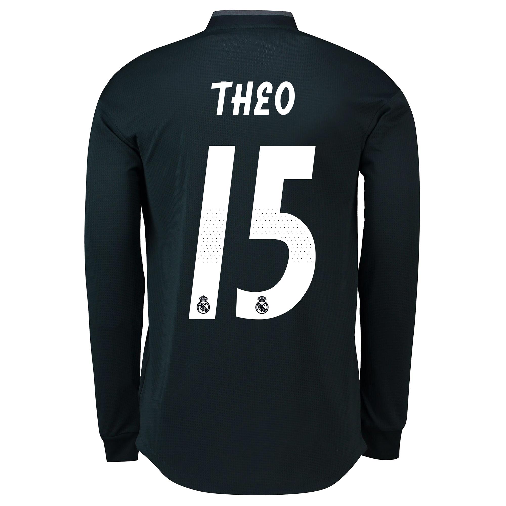 Image of Real Madrid Away Adi Zero Shirt 2018-19 - Long Sleeve with Theo 15 printing