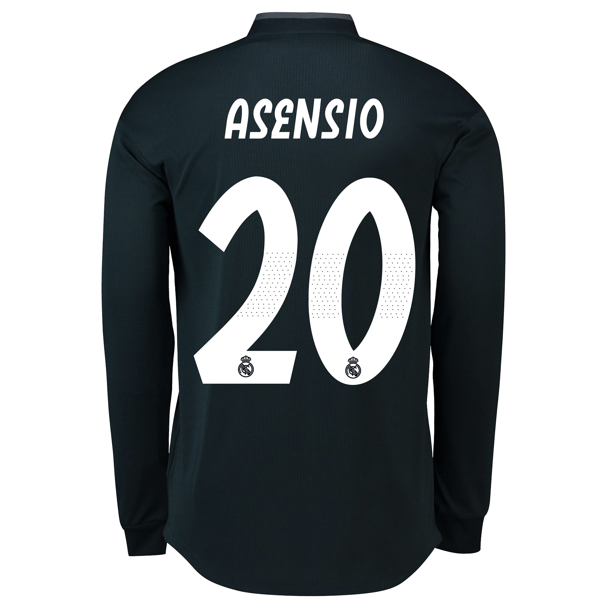 Image of Real Madrid Away Adi Zero Shirt 2018-19 - Long Sleeve with Asensio 20 printing