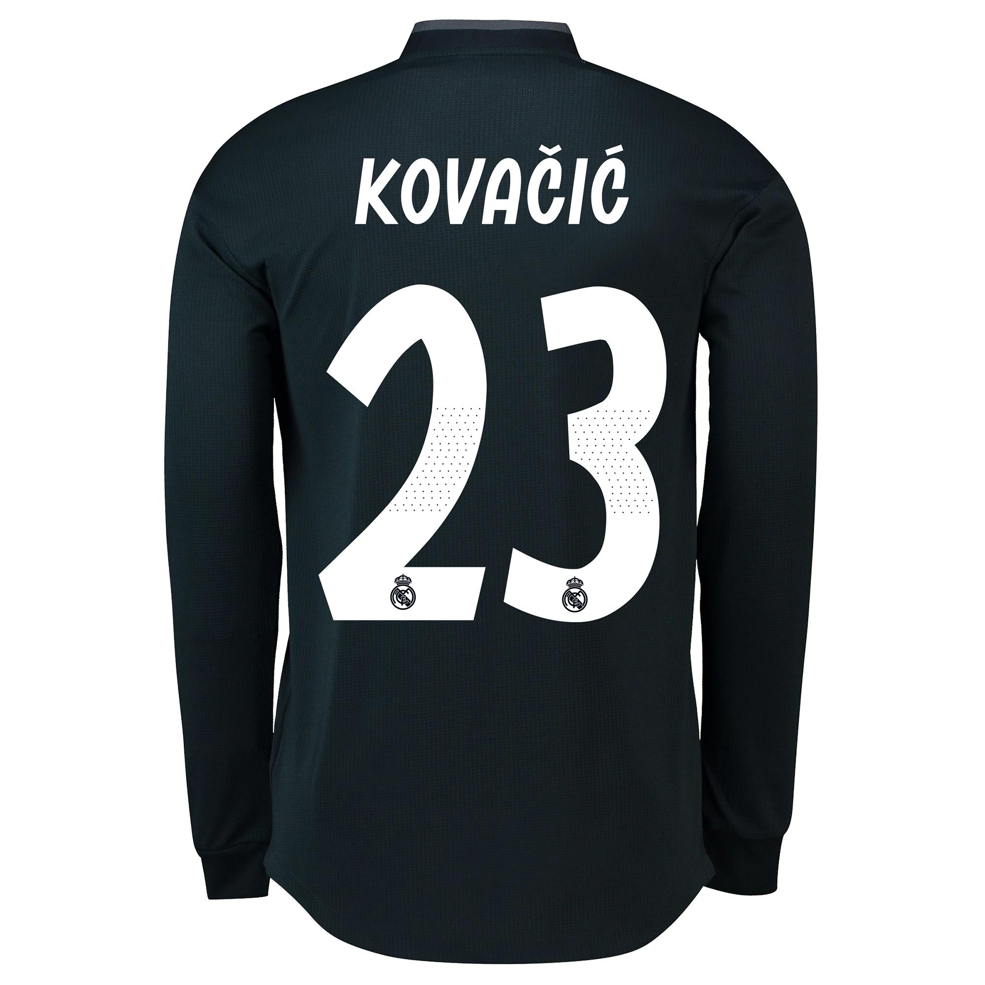 Image of Real Madrid Away Adi Zero Shirt 2018-19 - Long Sleeve with Kovacic 23 printing