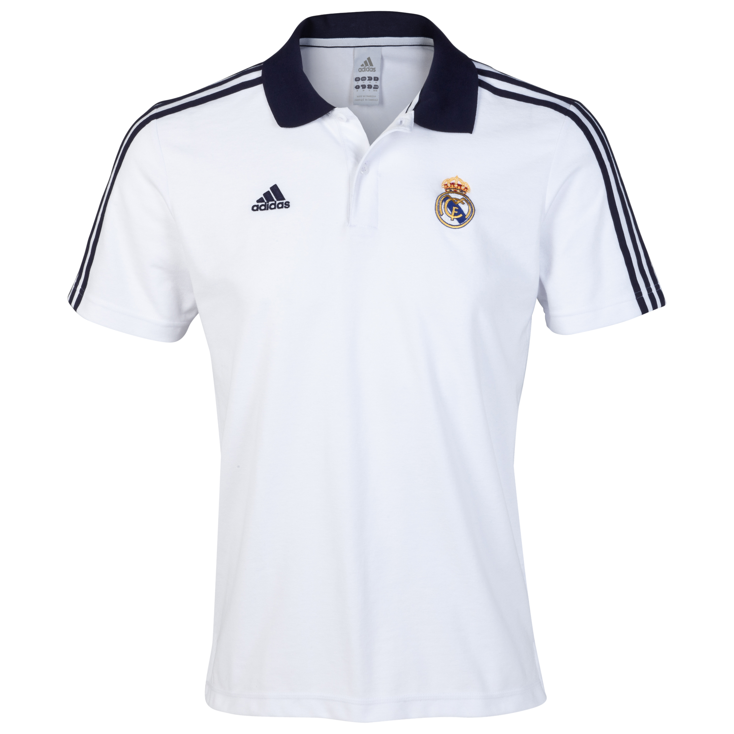 Polo Core Real Madrid - Blanco/negro