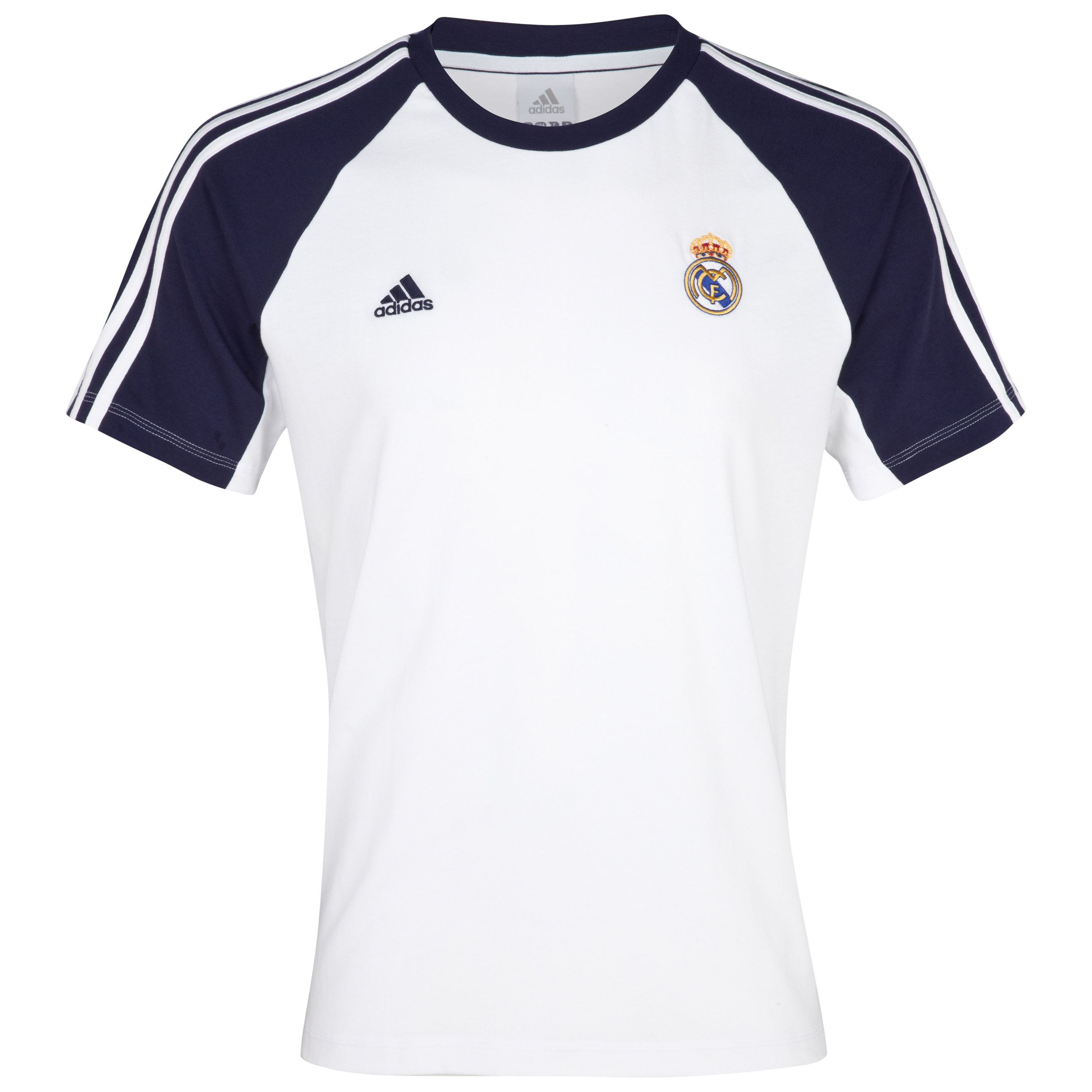 Camiseta Core Real Madrid - Blanco/negro