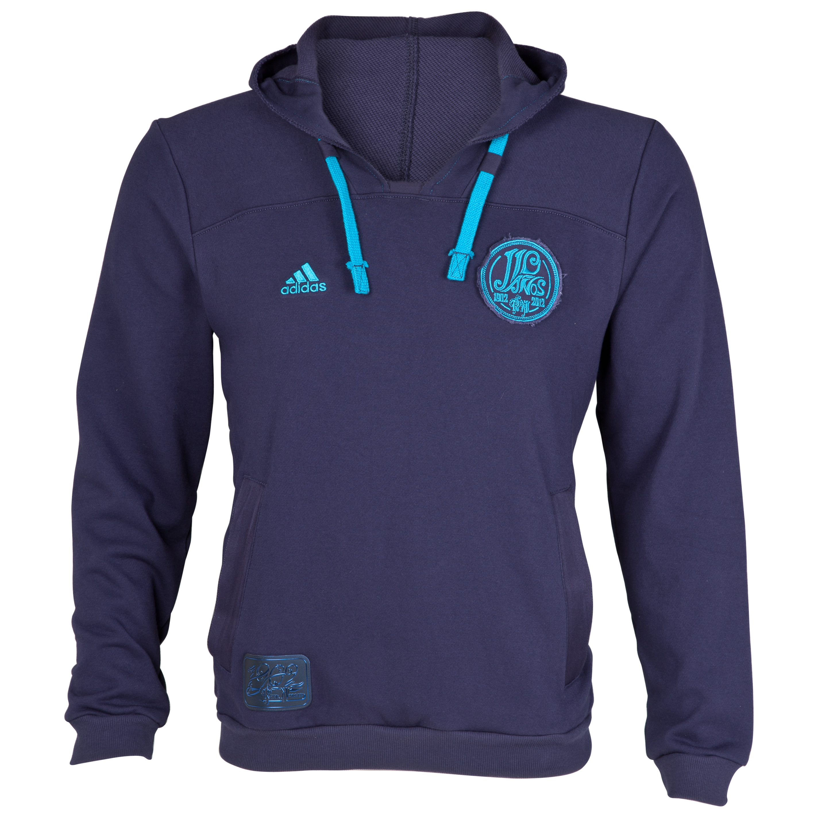 Real Madrid Authentic Hoodie - Noble Ink/Turquoise