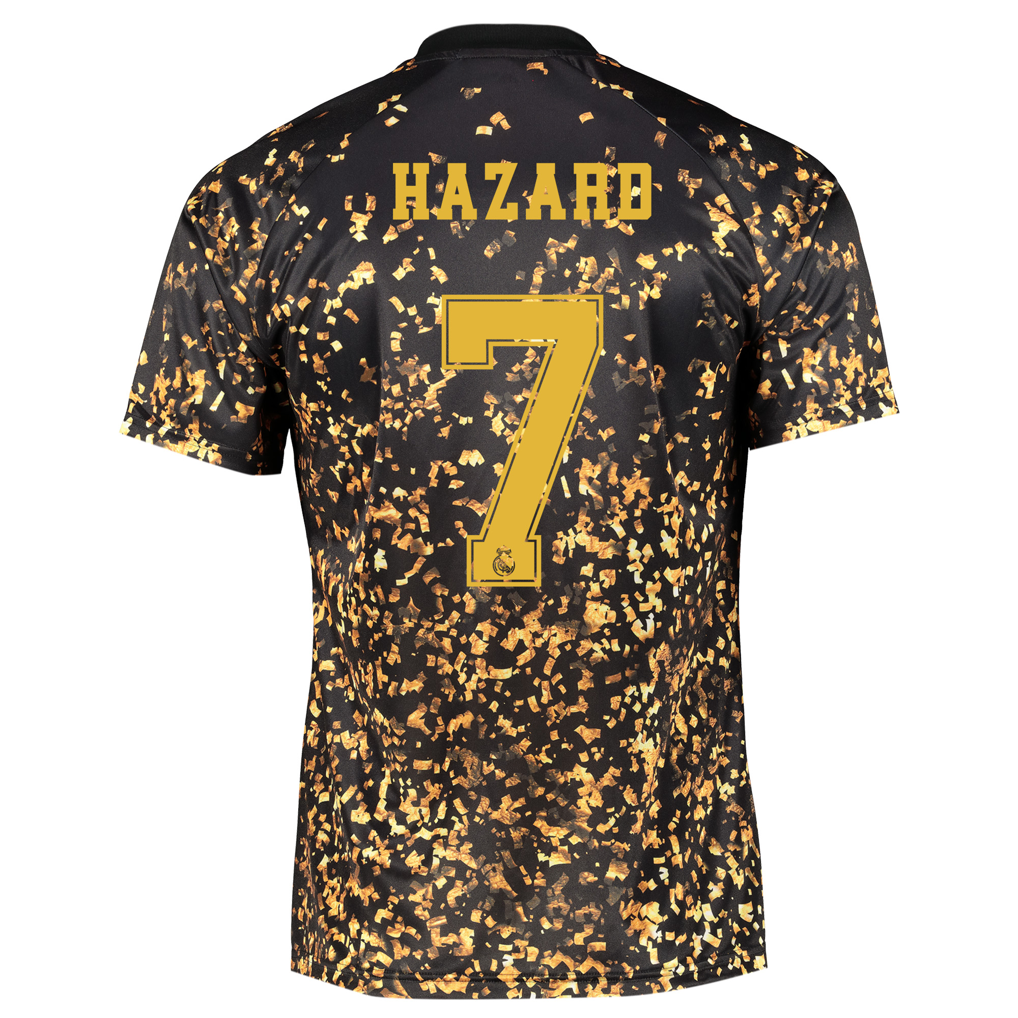 Camiseta adidas EA Sports del Real Madrid - Negro dorsal Hazard 7