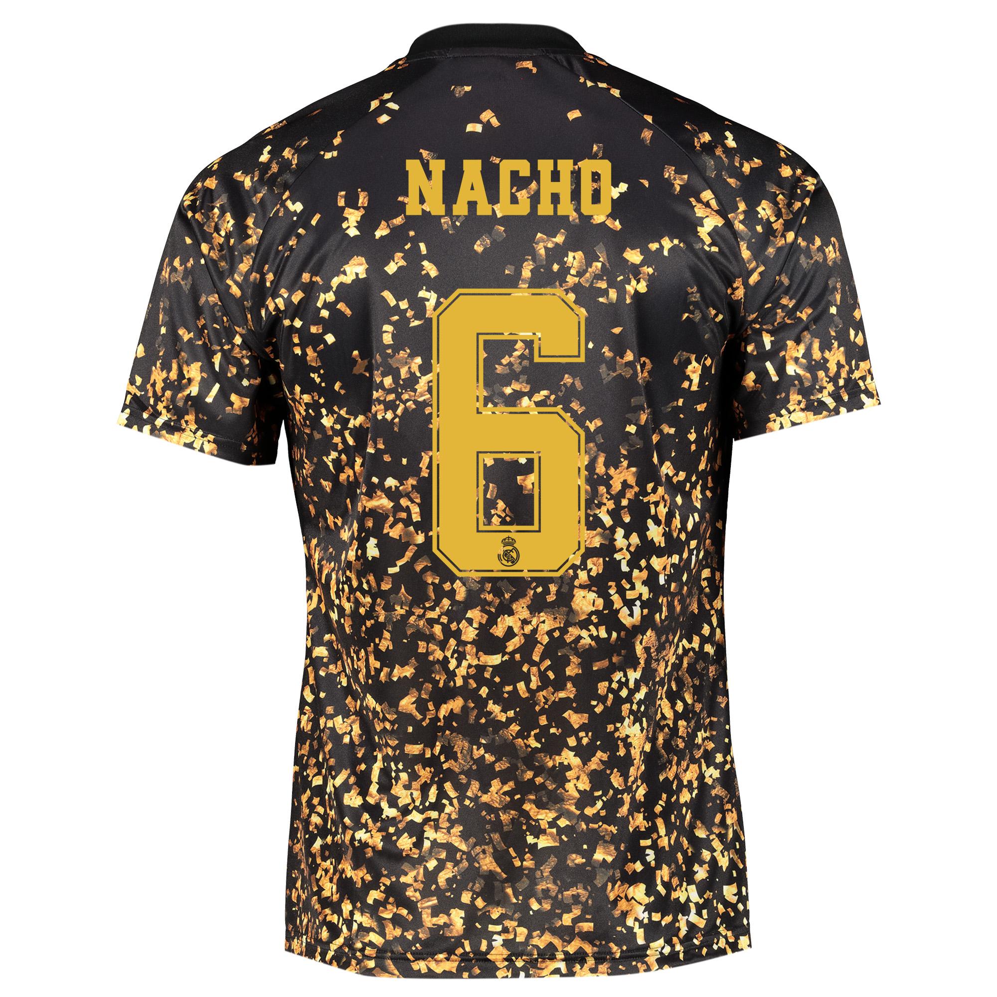 Camiseta adidas EA Sports del Real Madrid - Negro dorsal Nacho 6