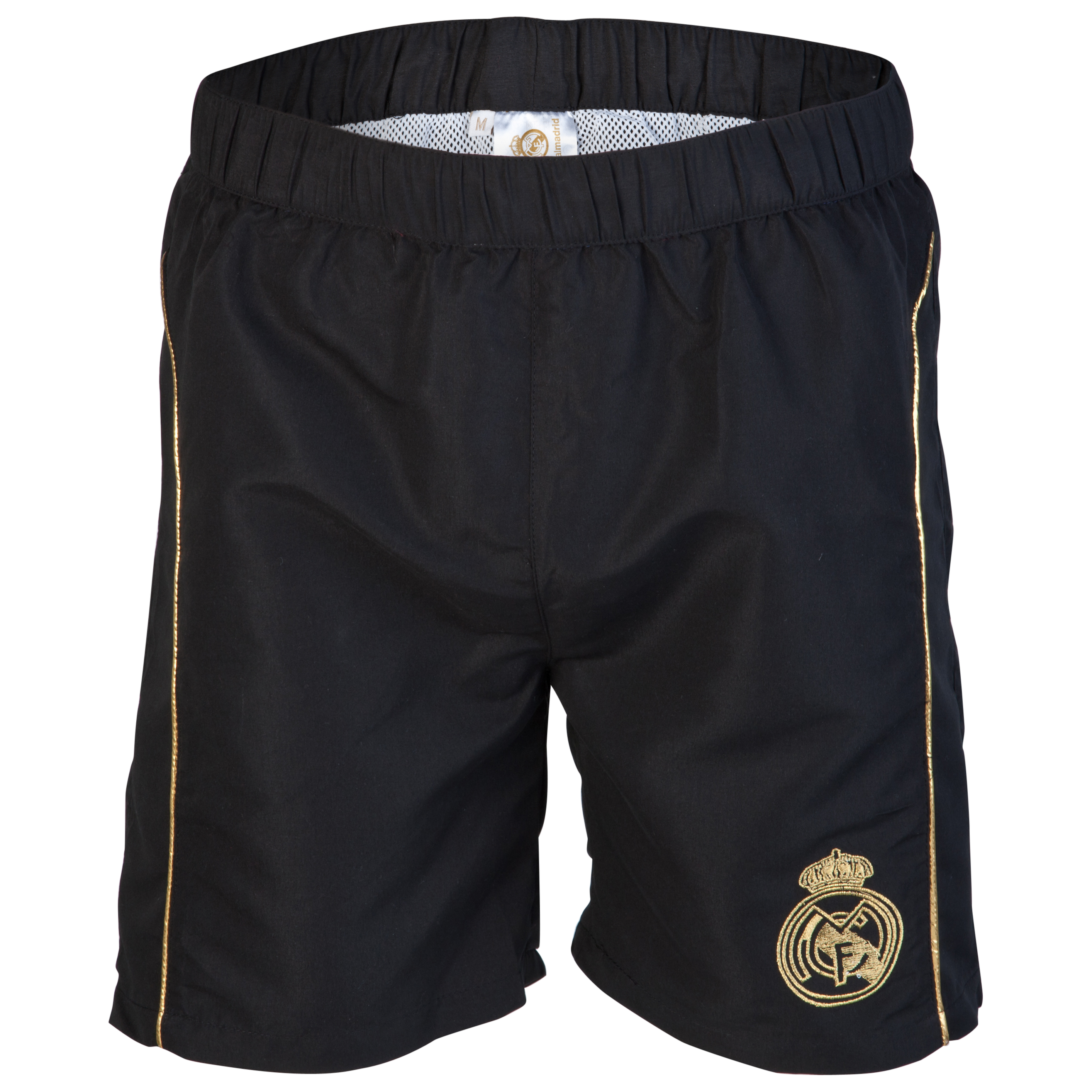 Real Madrid Crest Shorts - Black