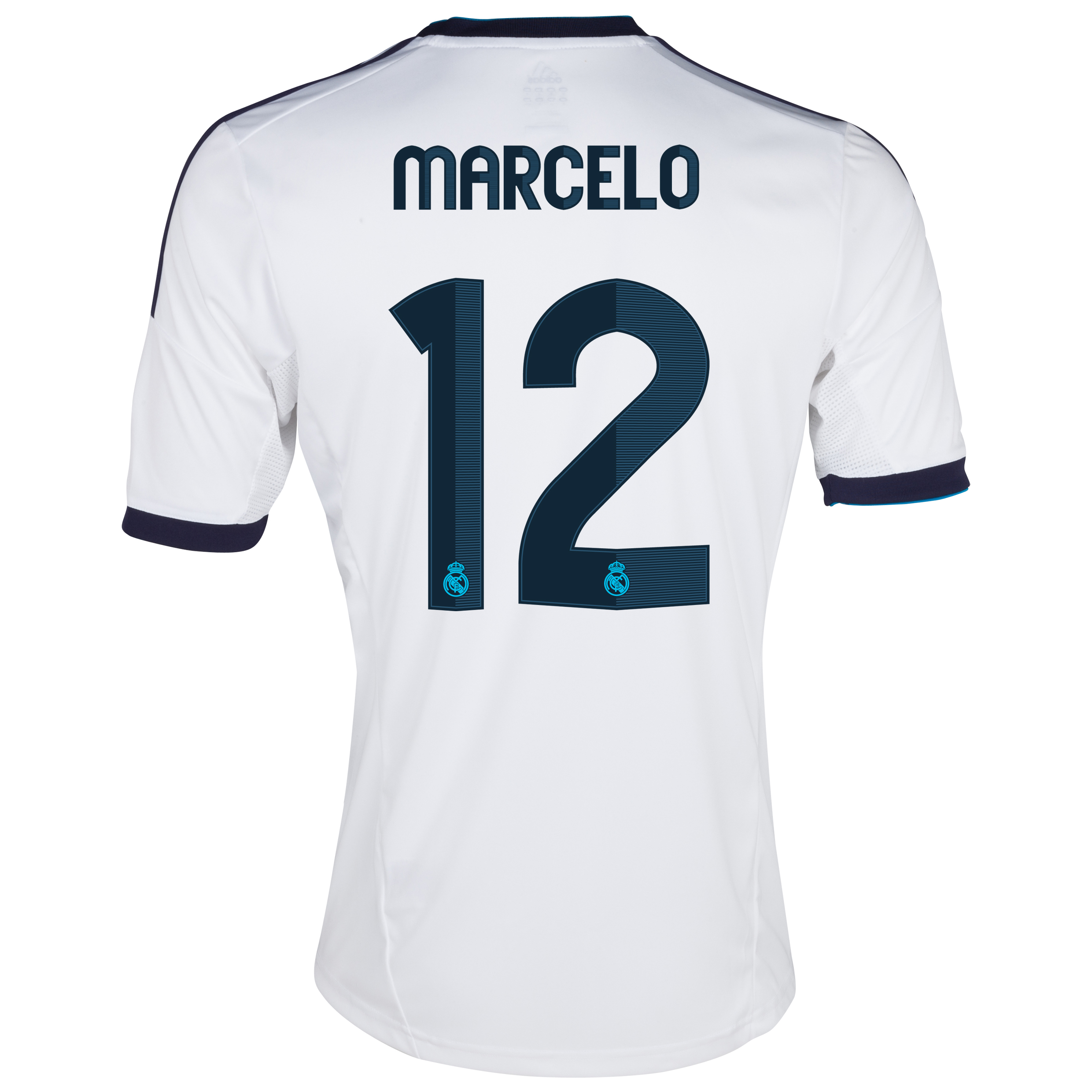 Camiseta 1 equipacin del Real Madrid 2012/13 con Marcelo 12
