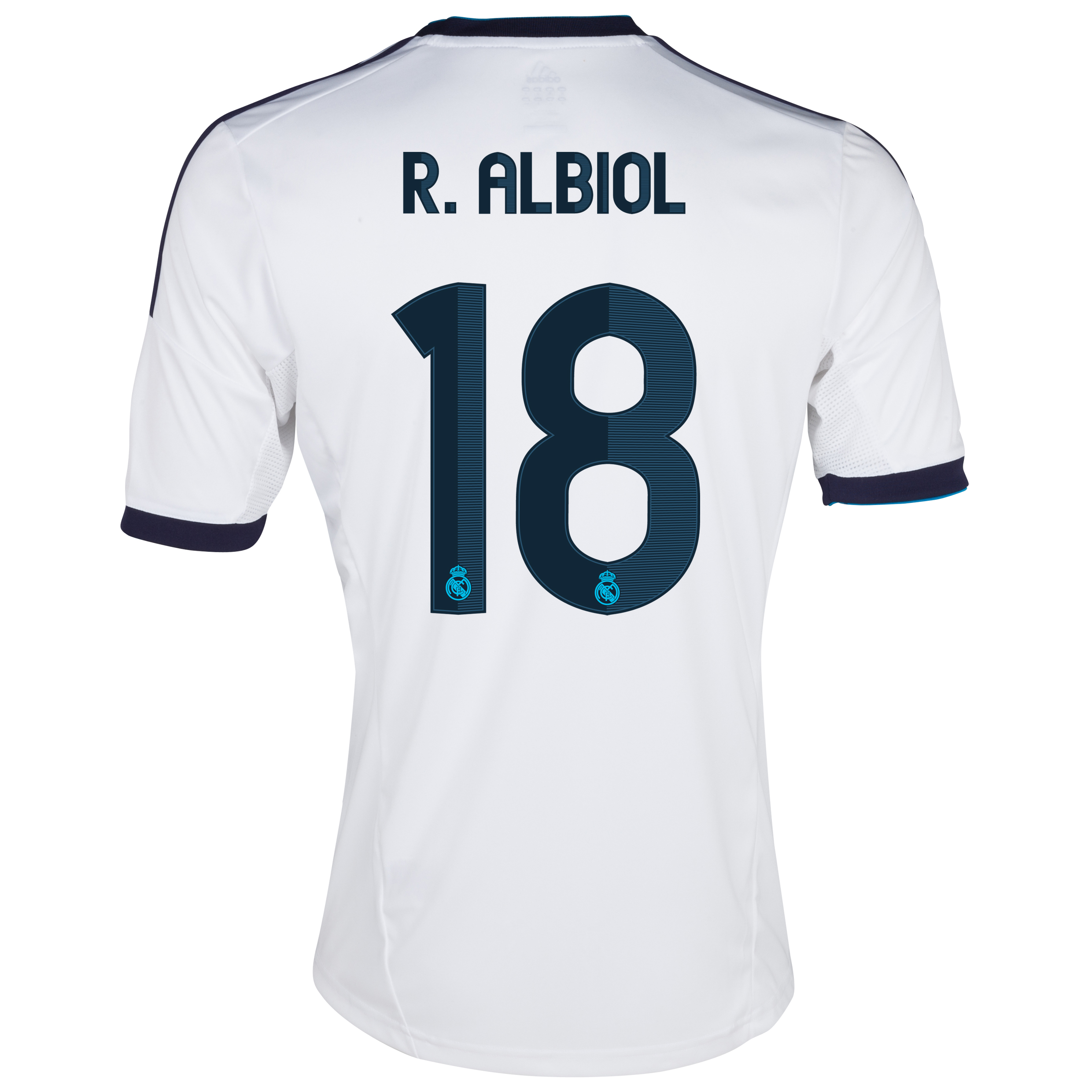 Real Madrid Home Shirt 2012/13 with R.Albiol 18 printing
