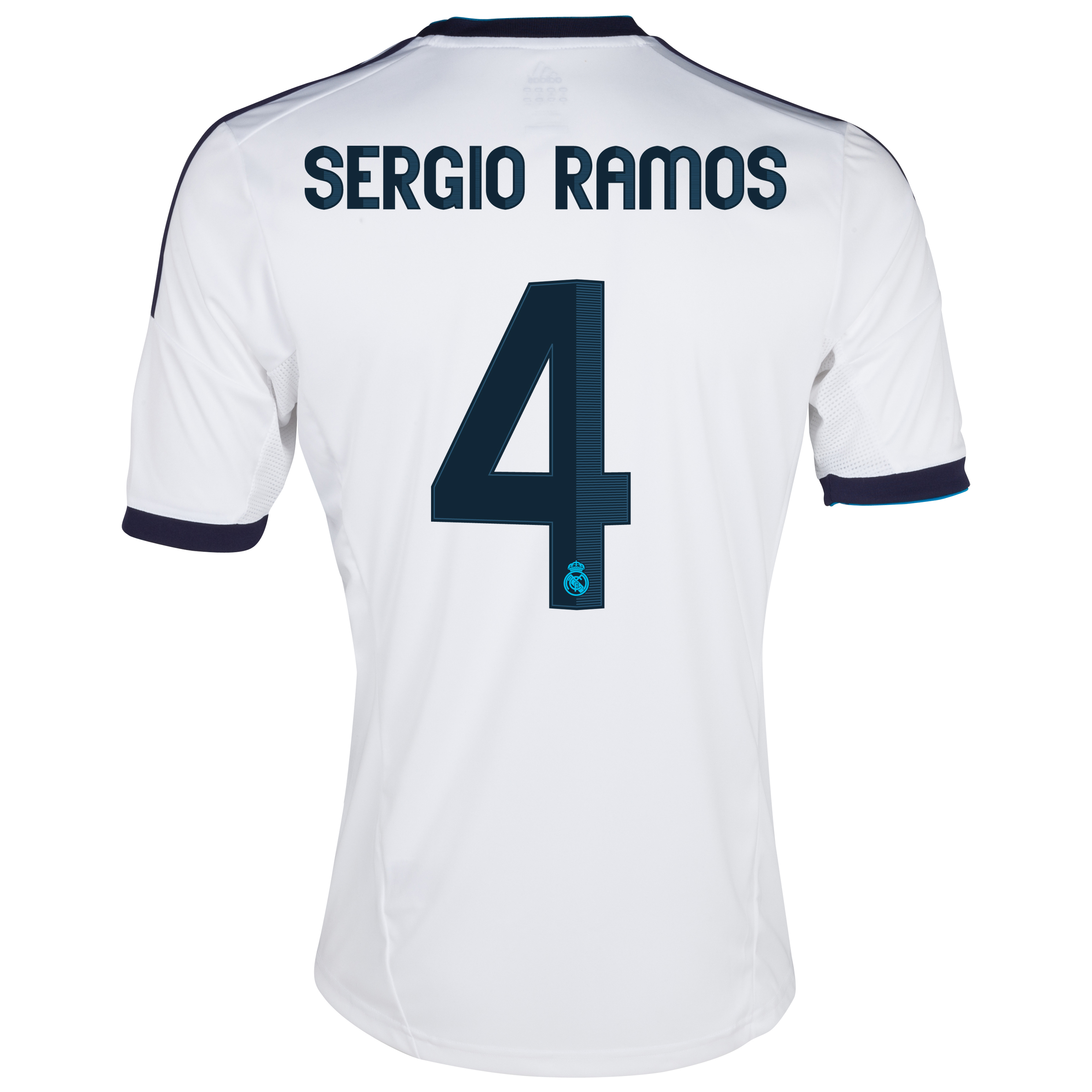 Camiseta 1 equipacin del Real Madrid 2012/13 Cadete con Ramos 4
