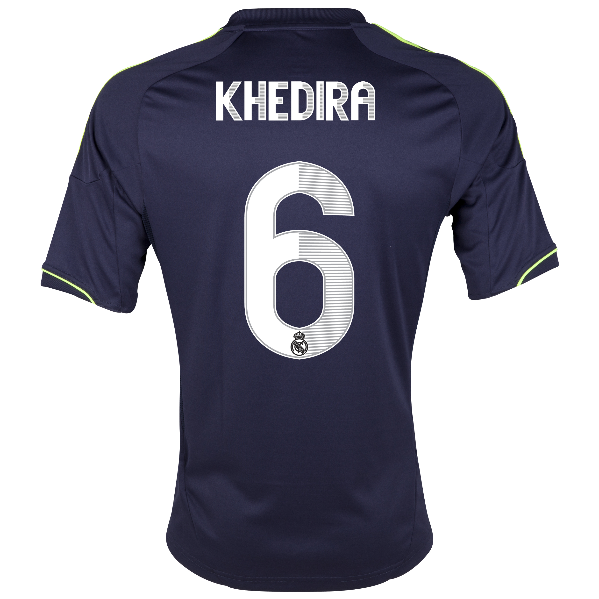 Camiseta visitante Real Madrid 2012/13 con impresin 6 Khedira