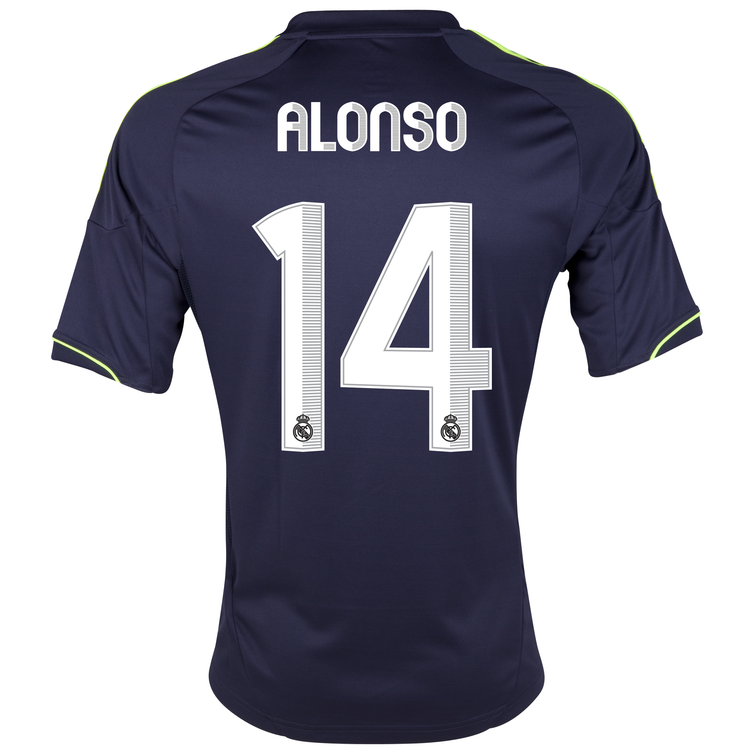 Real Madrid Away Shirt 2012/13 with Alonso 14 printing