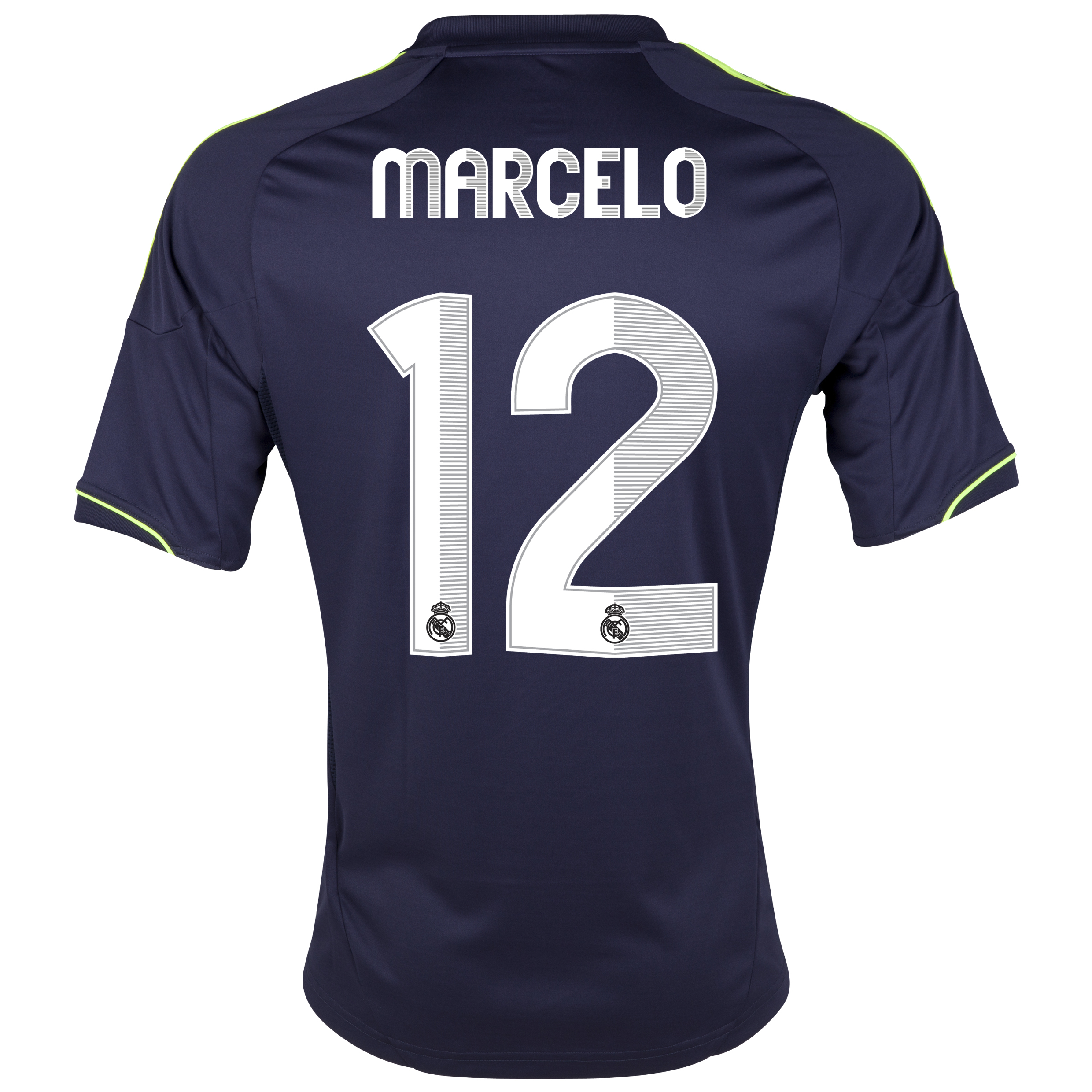Camiseta visitante Real Madrid 2012/13 con impresin 12 Marcelo - Nio