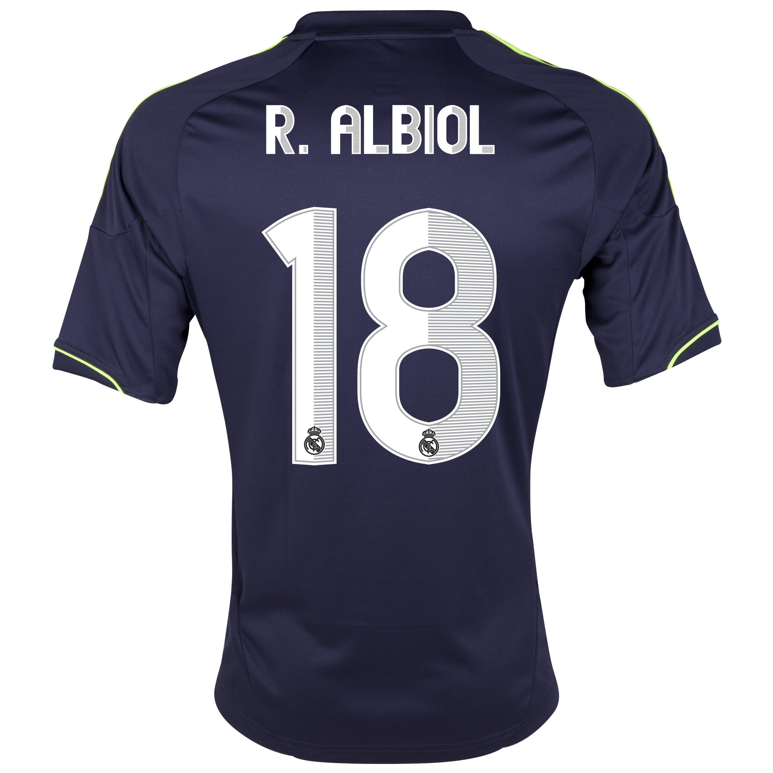 Camiseta visitante Real Madrid 2012/13 con impresin 18 R.Albiol - Nio