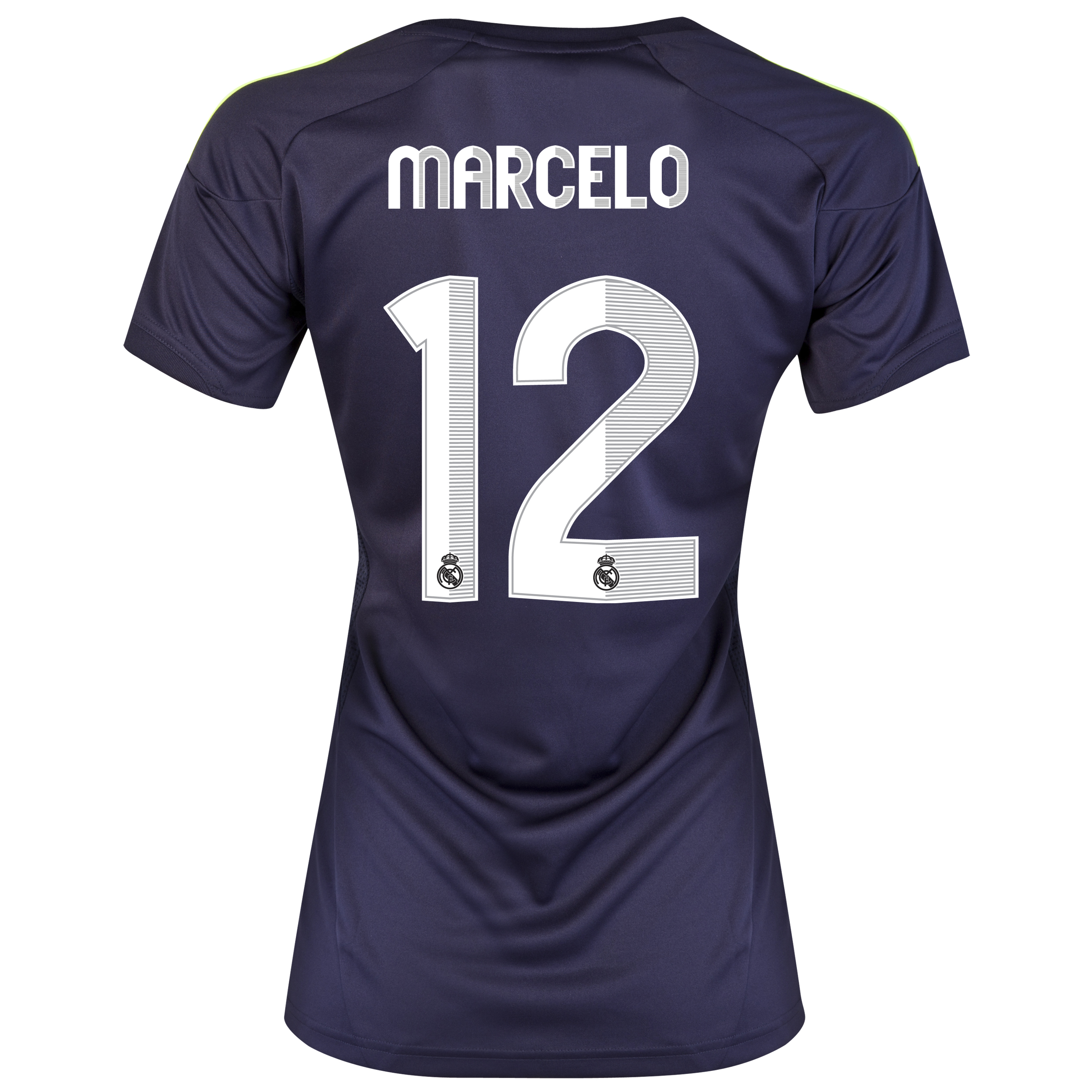 Camiseta visitante Real Madrid 2012/13 con impresin 12 Marcelo - Mujer