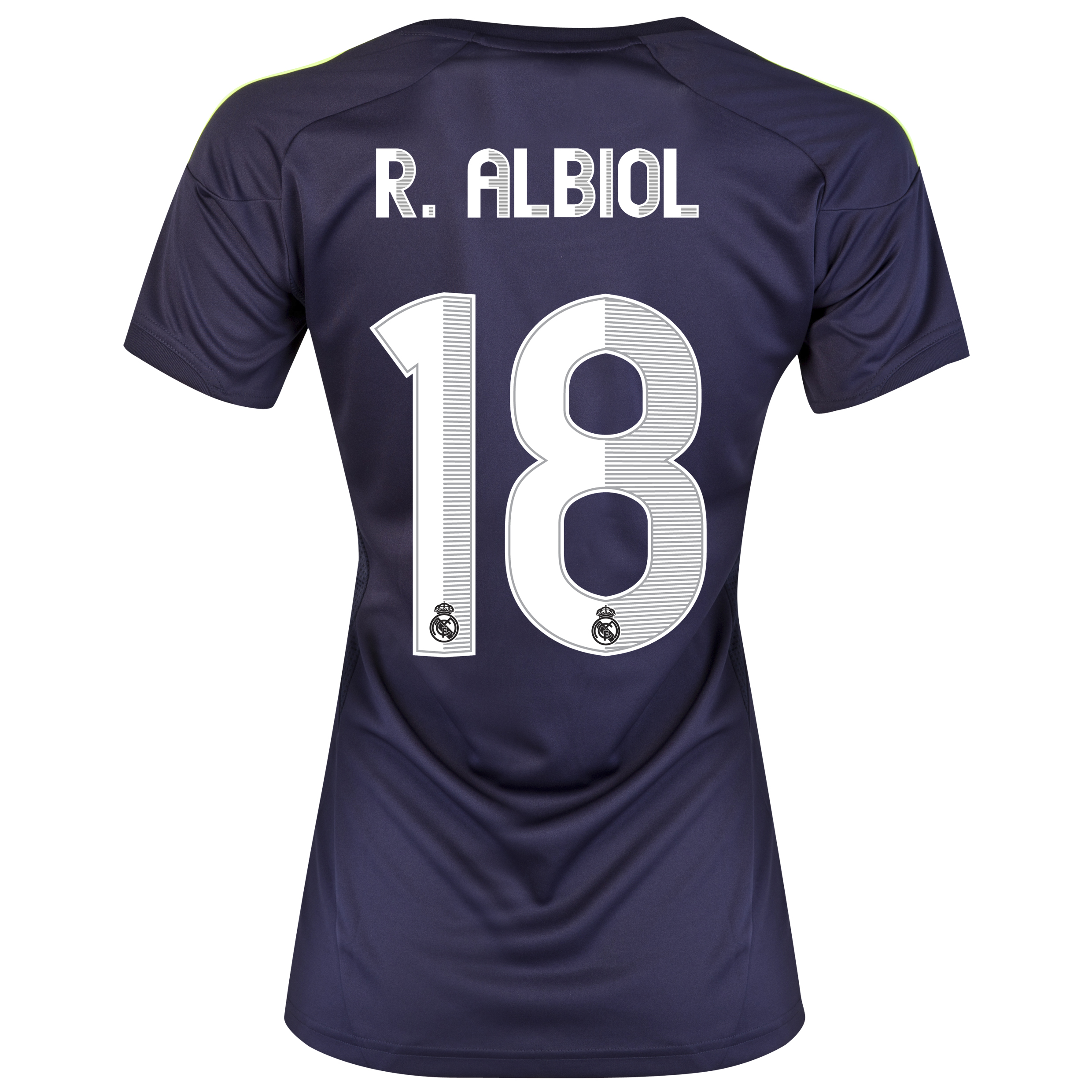 Camiseta visitante Real Madrid 2012/13 con impresin 18 R.Albiol - Mujer
