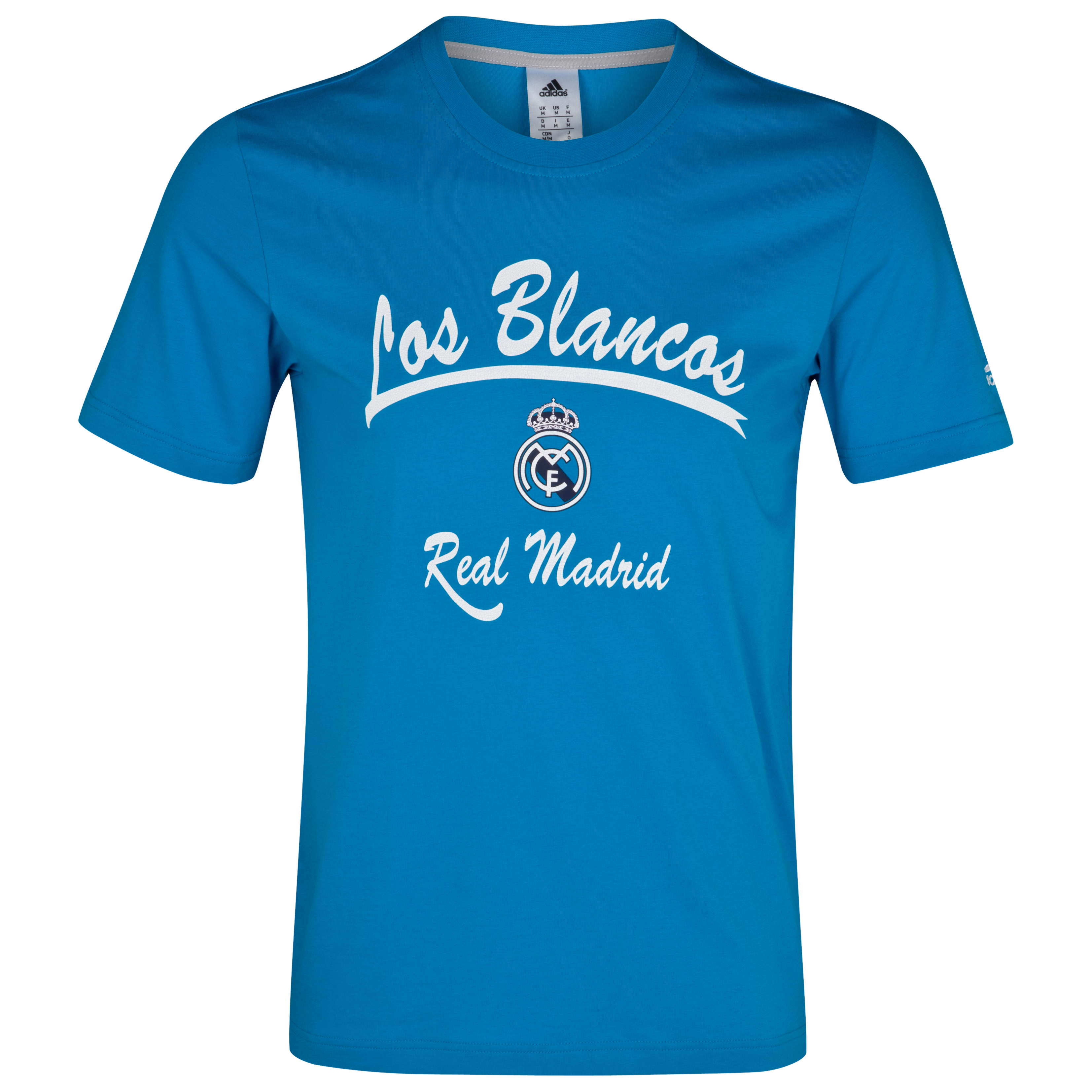 Camiseta gráfico Real Madrid - Turquesa/blanco