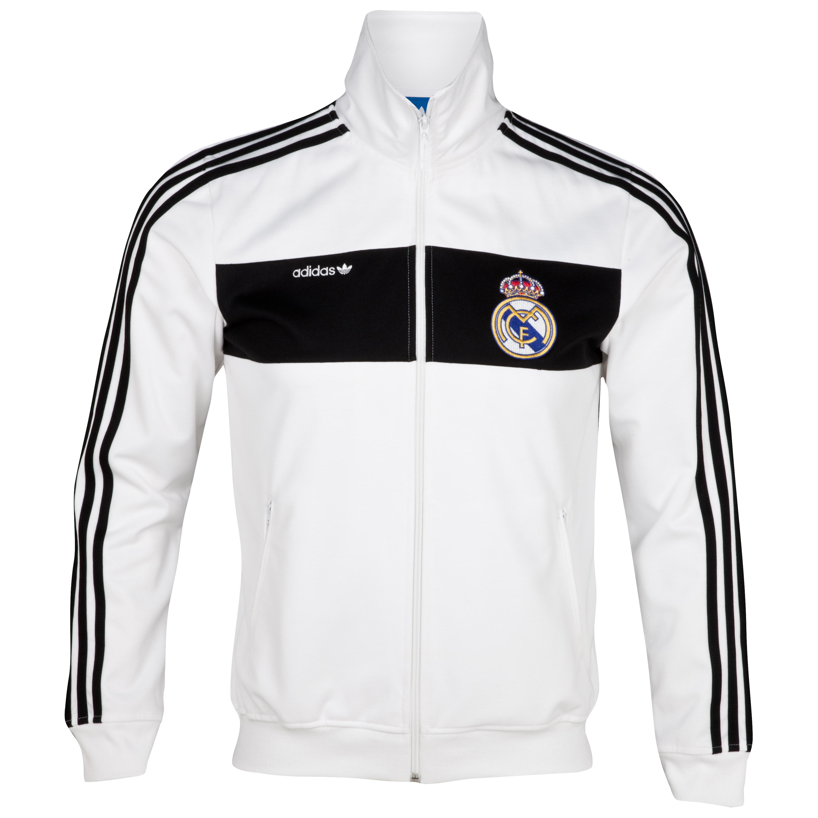 adidas Originals Real Madrid Beckenbauer Track Top - White/Black
