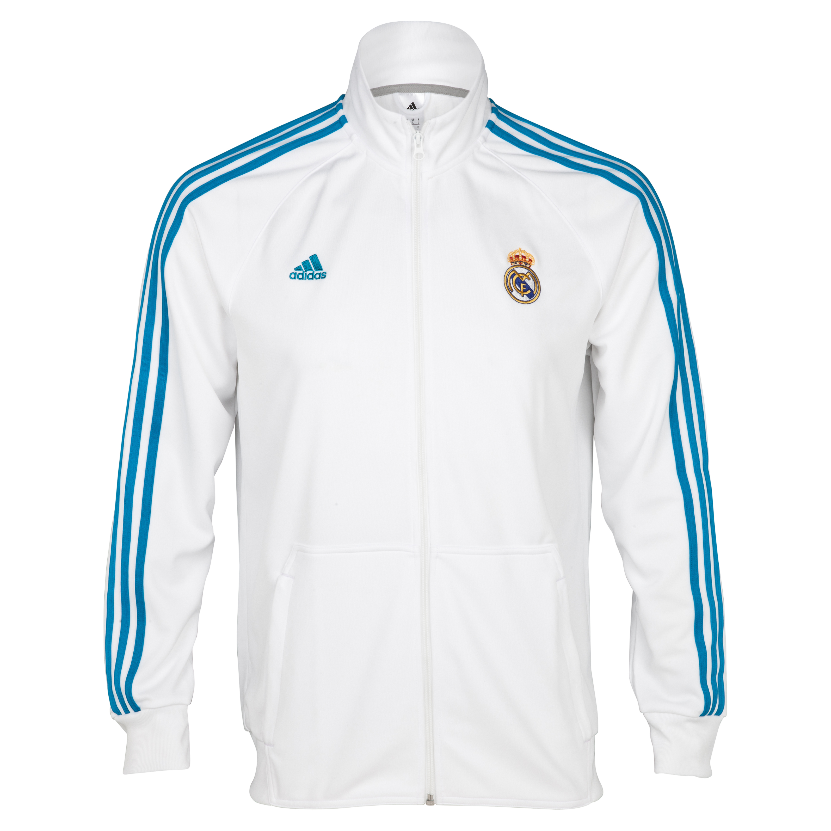Real Madrid Core Track Top - White/Turquoise