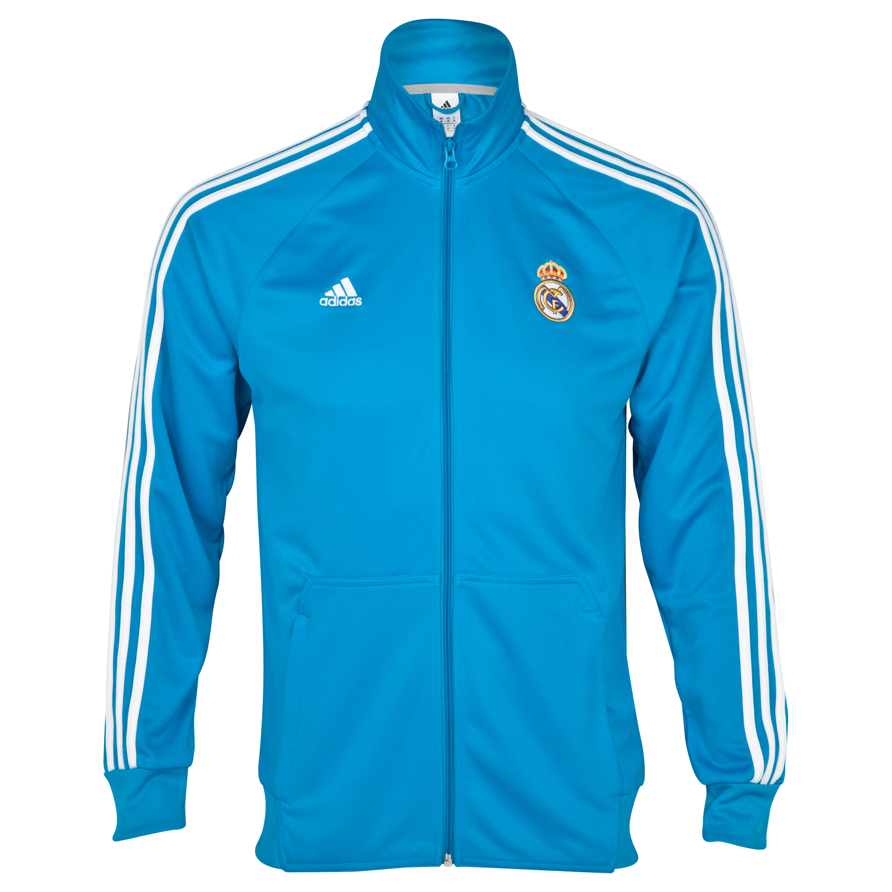 Real Madrid Core Track Top - Turquoise/White