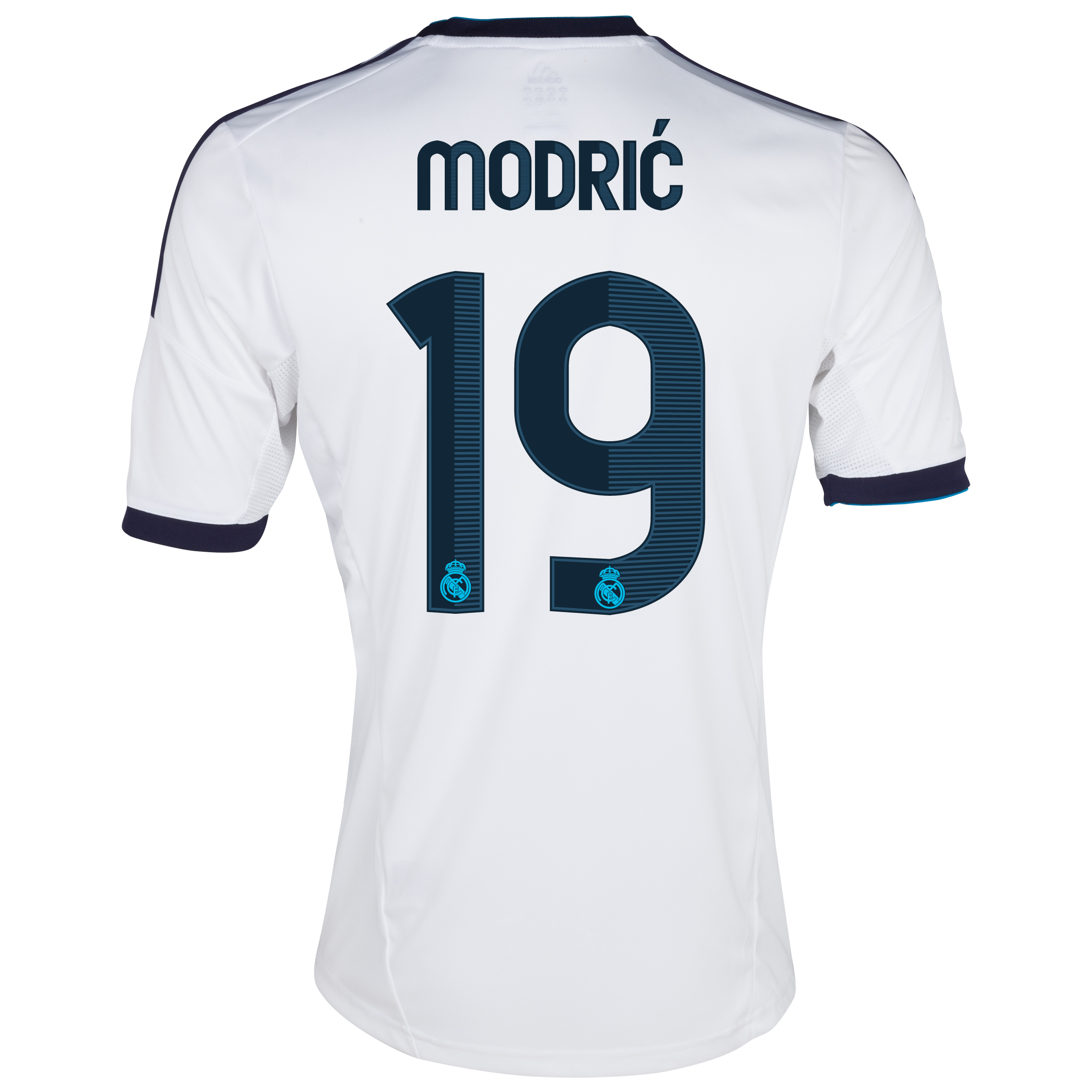 Camiseta 1 Equipacin del Real Madrid 2012/13 - Cadete con Modric N19
