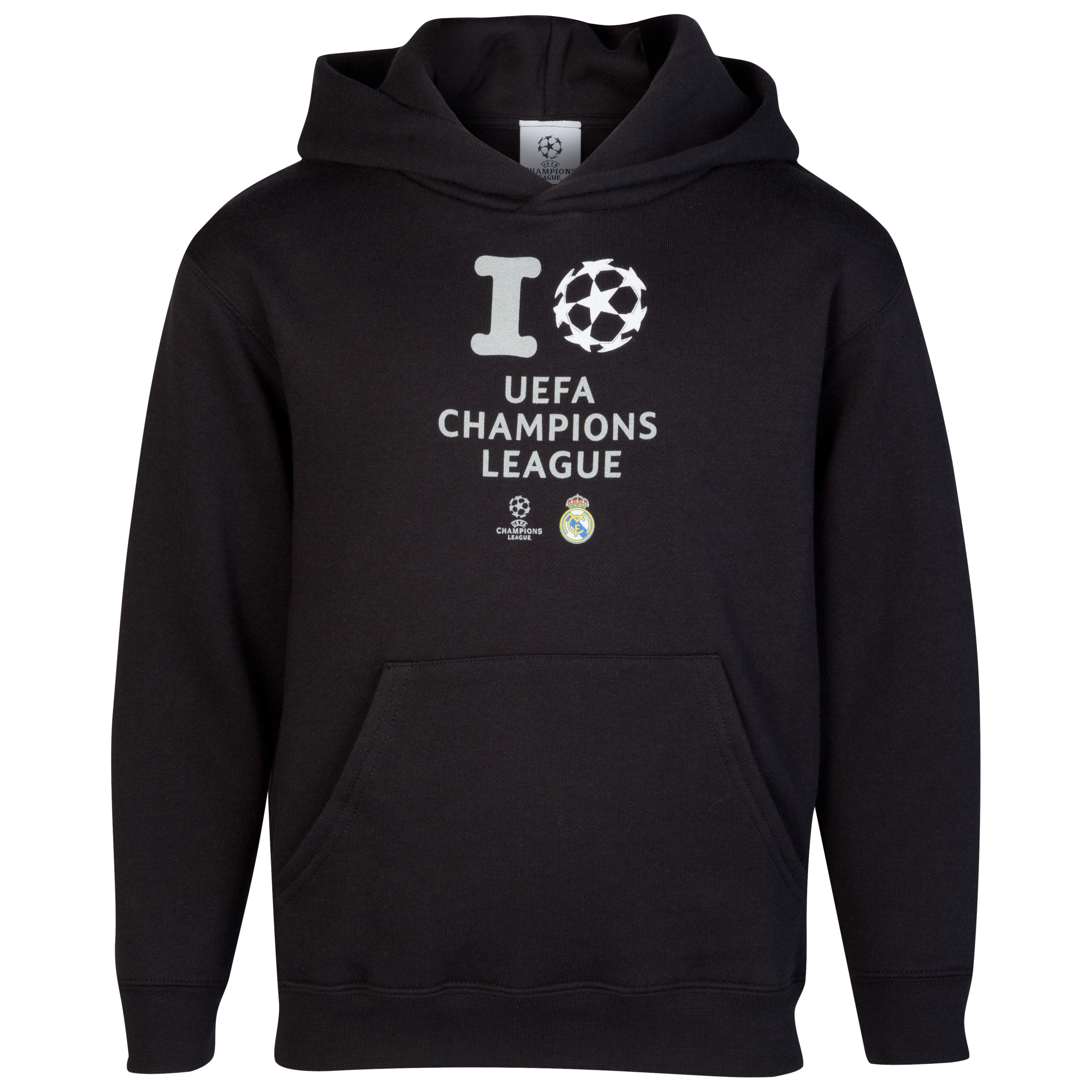 Real Madrid UEFA Champions League 'I Love UCL' Glow In The Dark Printed Hoody - Black - Junior