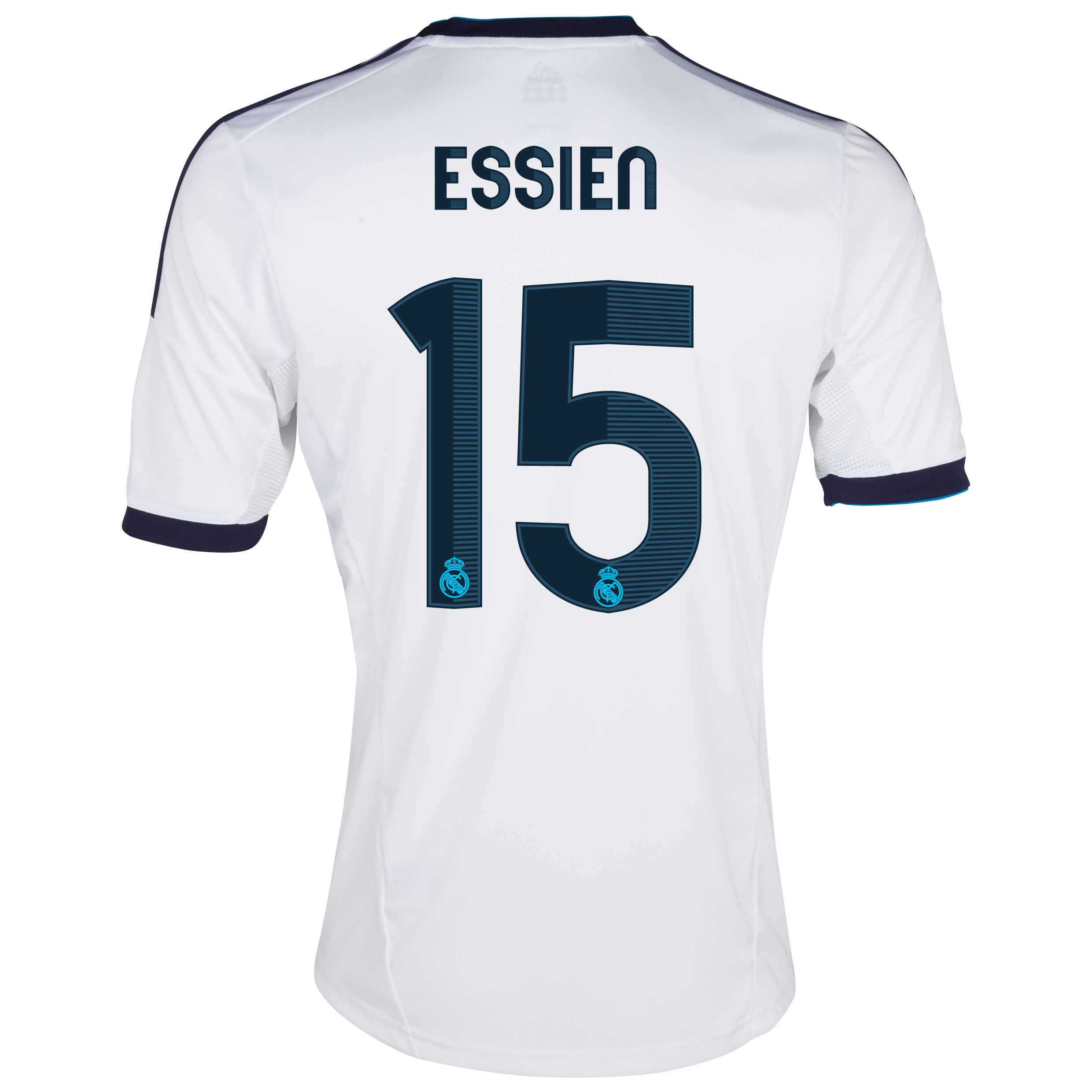 Camiseta 1 Equipacin del Real Madrid 2012/13 - Cadete con Essien N15