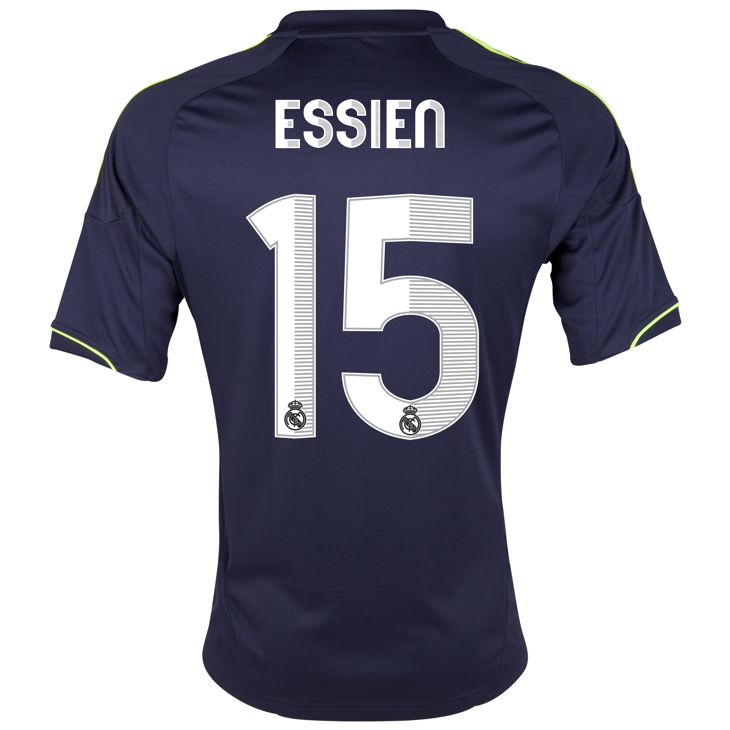 Camiseta 2 Equipacin del Real Madrid 2012/13 - Cadete con Essien N15
