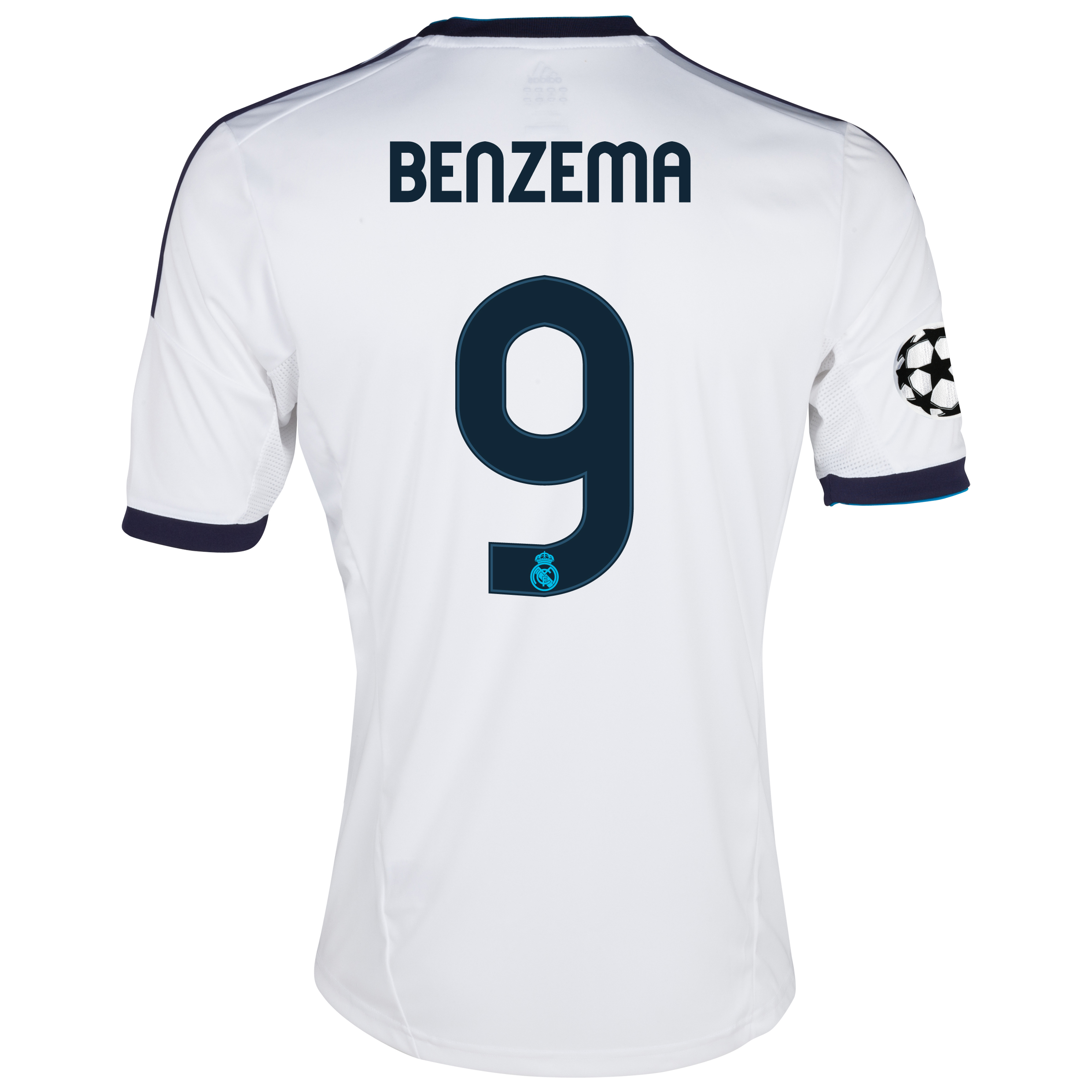 Real Madrid UEFA Champions League Home Shirt 2012/13 with Benzema 9 printing