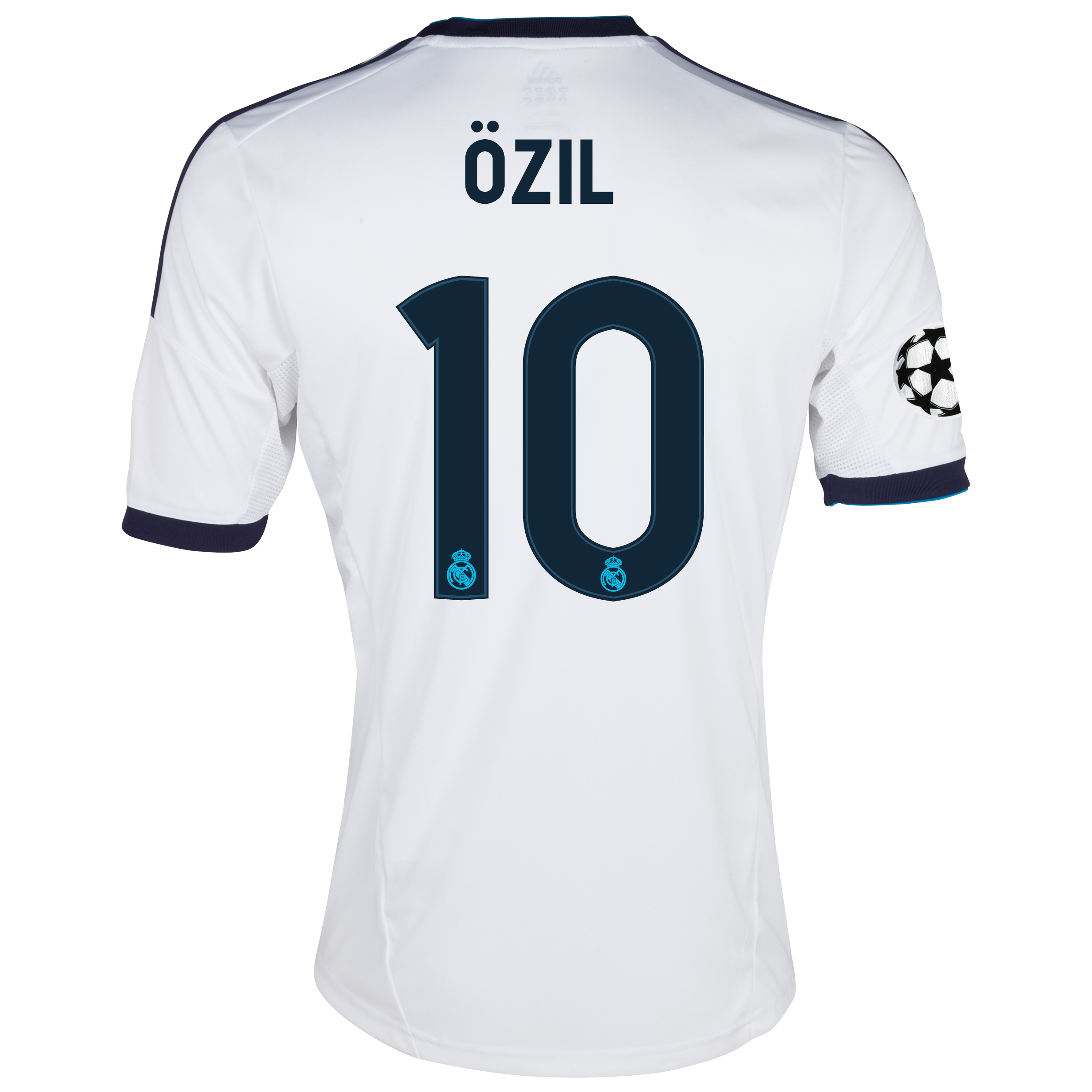 Camiseta local UEFA Champions League Real Madrid 2012/13 con impresin 10 zil