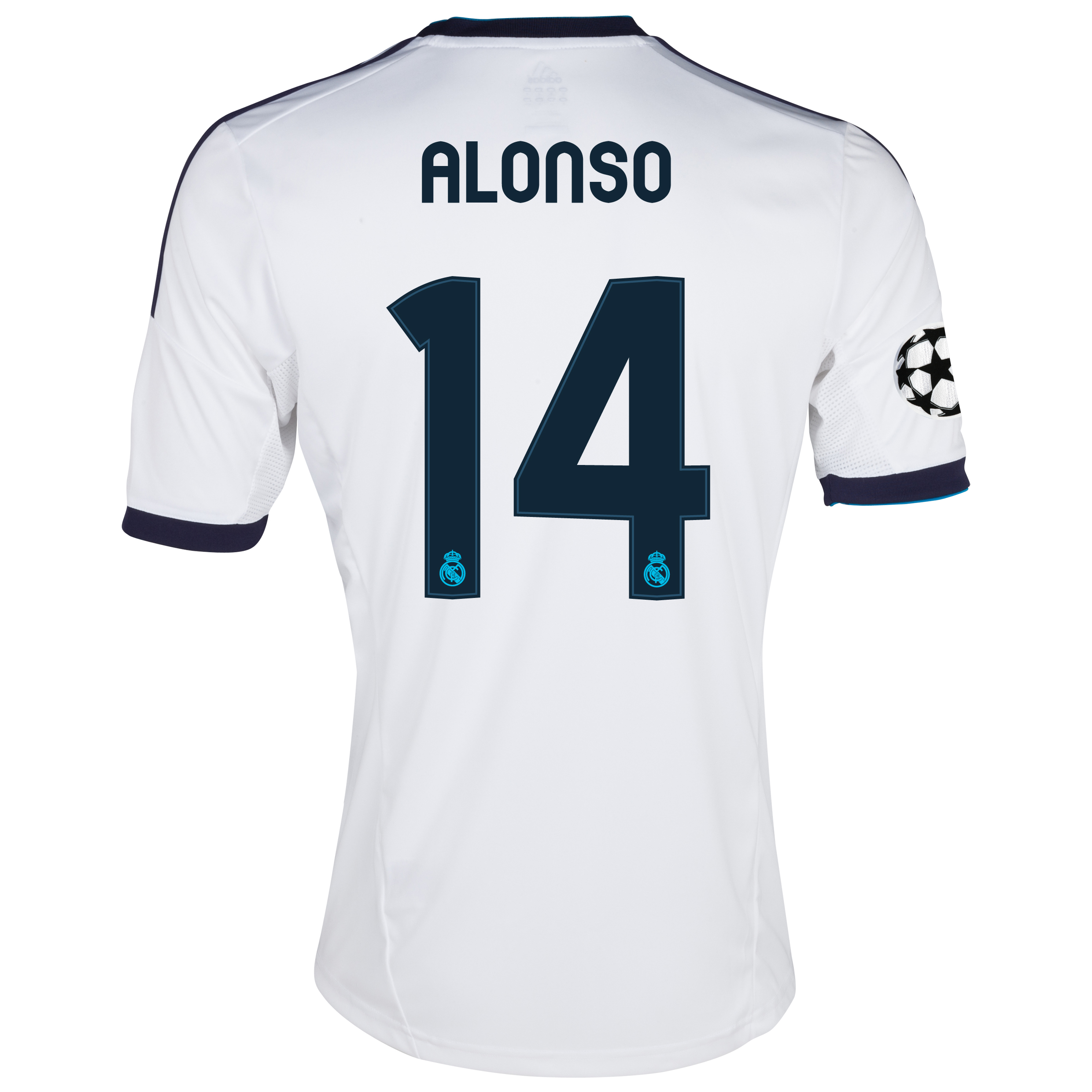 Real Madrid UEFA Champions League Home Shirt 2012/13 with Alonso 14 printing