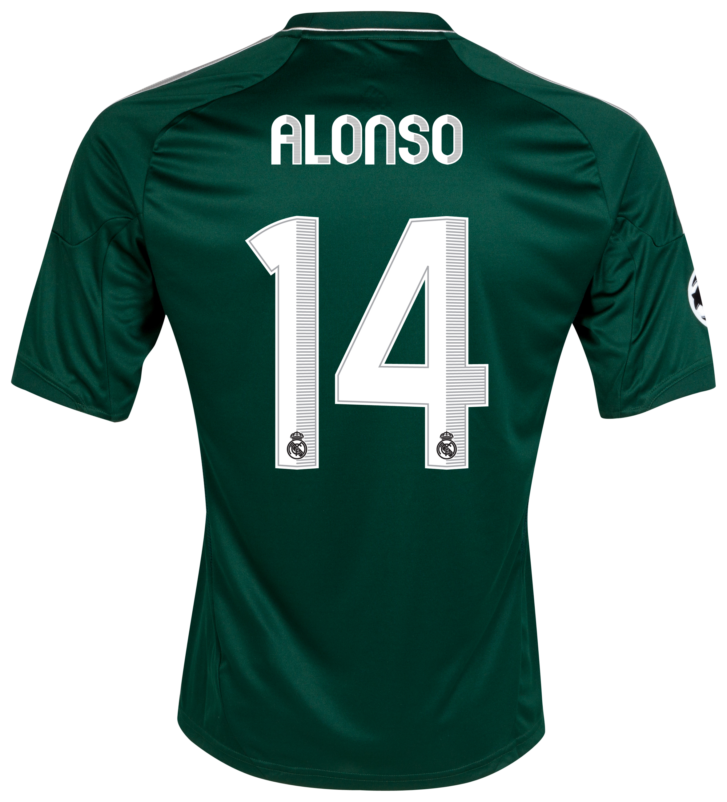 Real Madrid UEFA Champions League Third Shirt 2012/13 with Alonso 14 printing