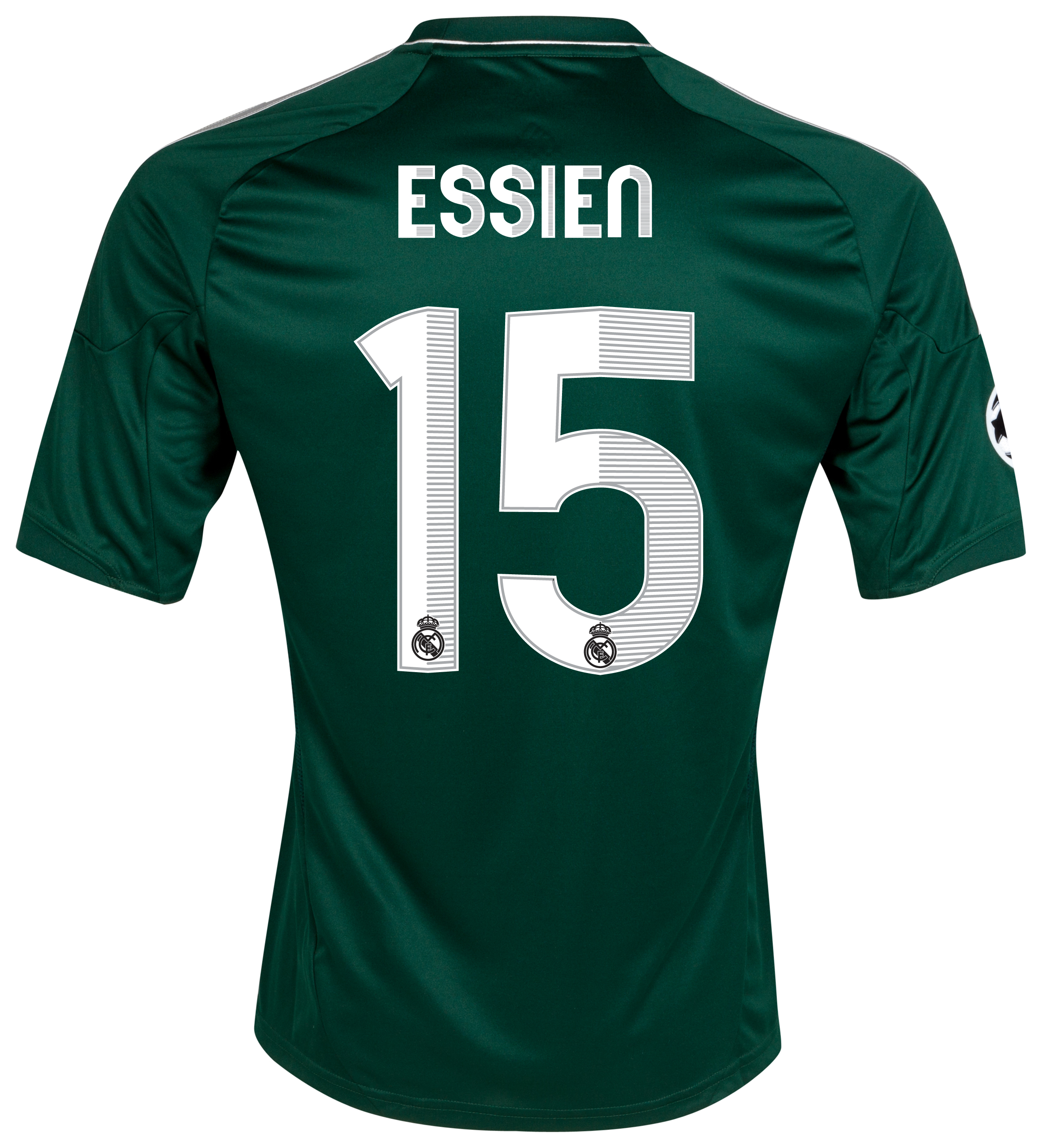 Real Madrid UEFA Champions League Third Shirt 2012/13 with Essien 15 printing
