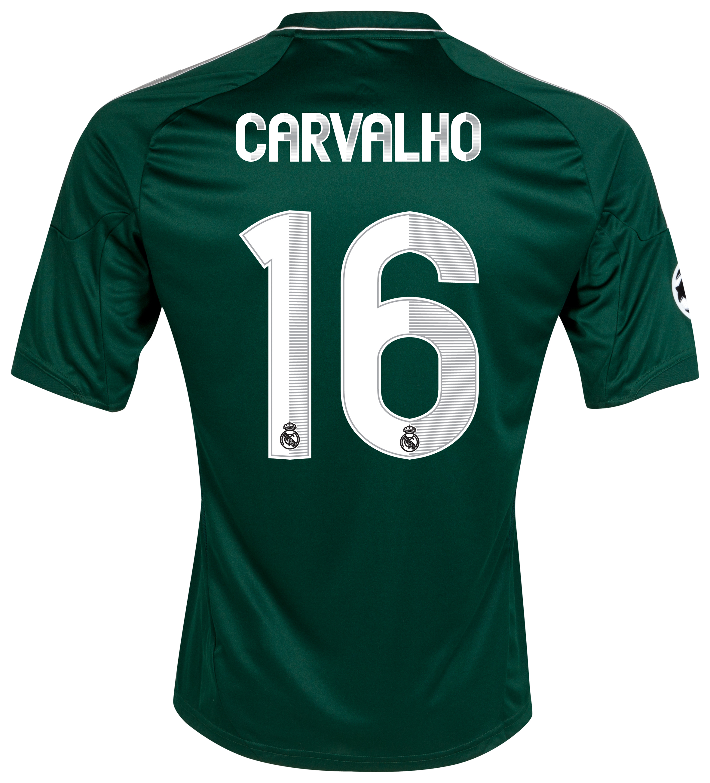 Real Madrid UEFA Champions League Third Shirt 2012/13 with Carvalho 16 printing