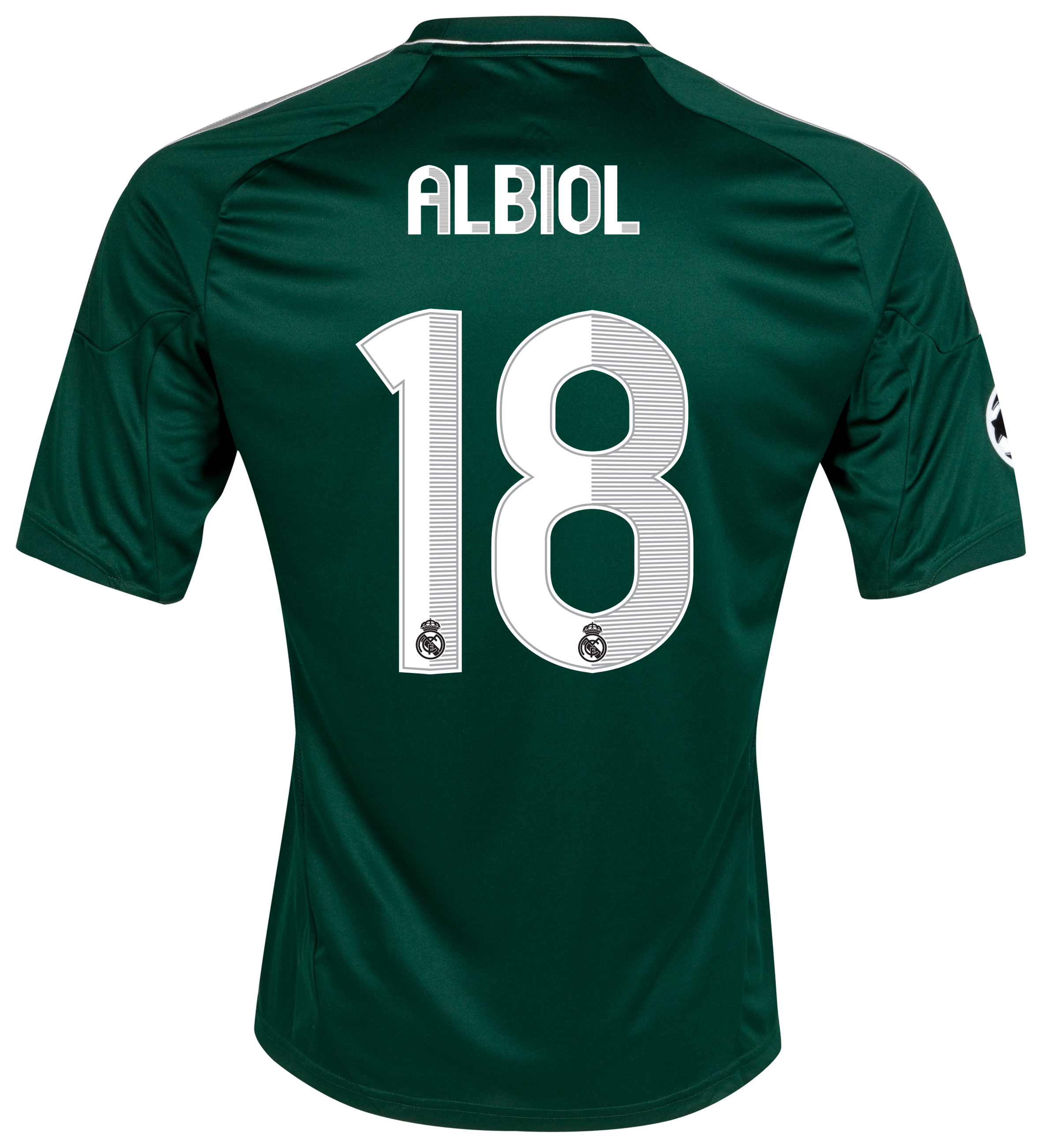 Real Madrid UEFA Champions League Third Shirt 2012/13 with Albiol 18 printing