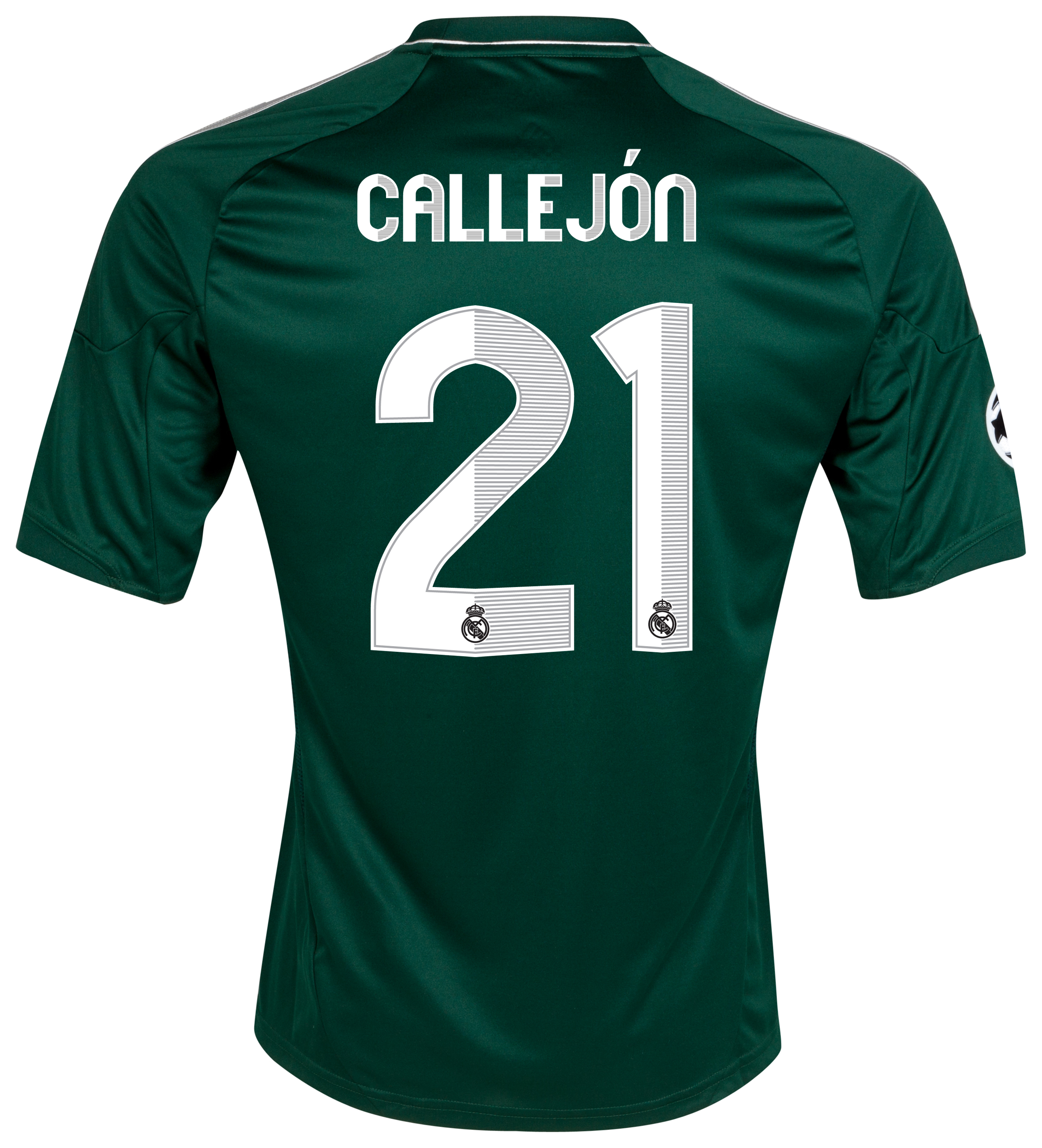 Real Madrid UEFA Champions League Third Shirt 2012/13 with Callejón 21 printing