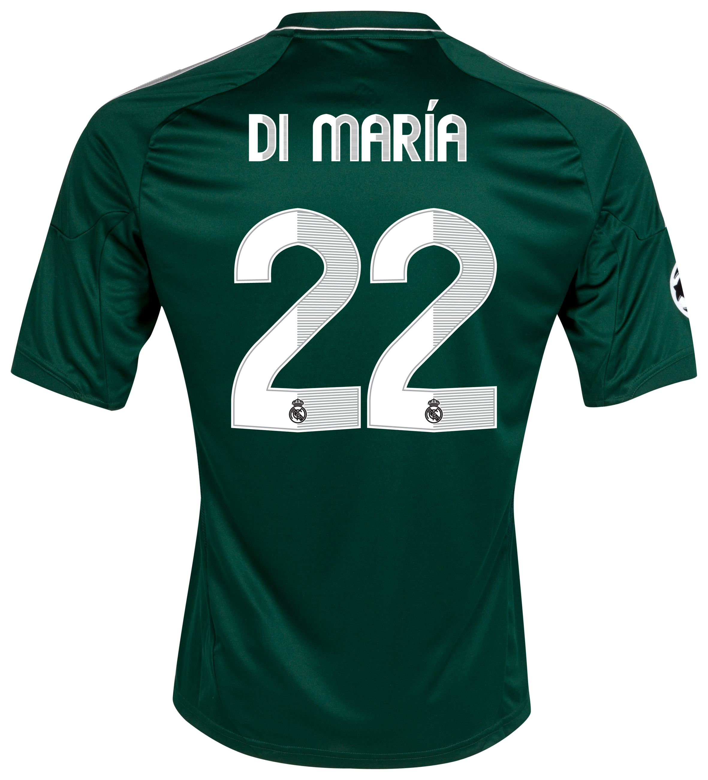 Real Madrid UEFA Champions League Third Shirt 2012/13 with Di María 22 printing