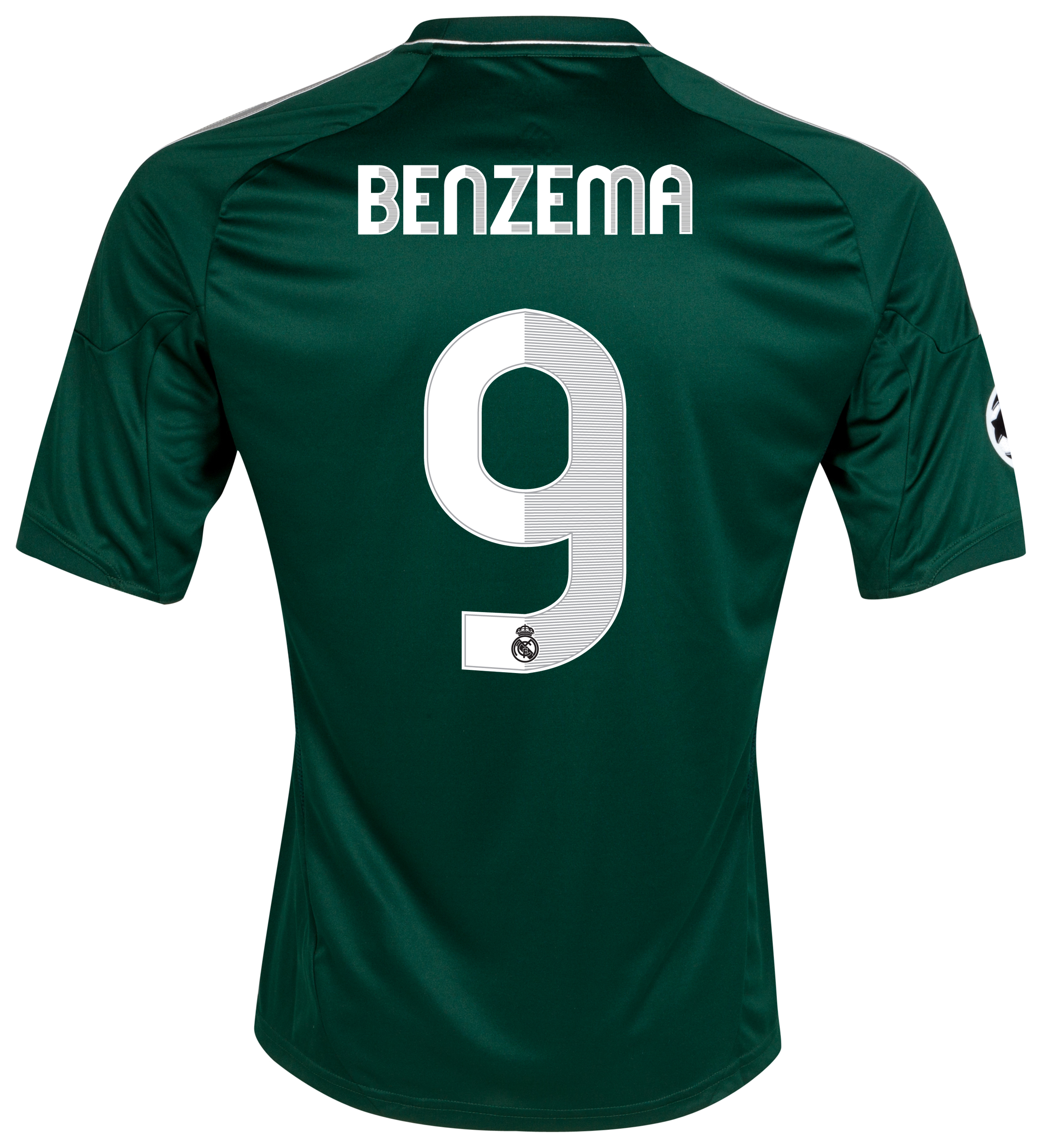 Real Madrid UEFA Champions League Third Shirt 2012/13 - Kids with Benzema 9 printing