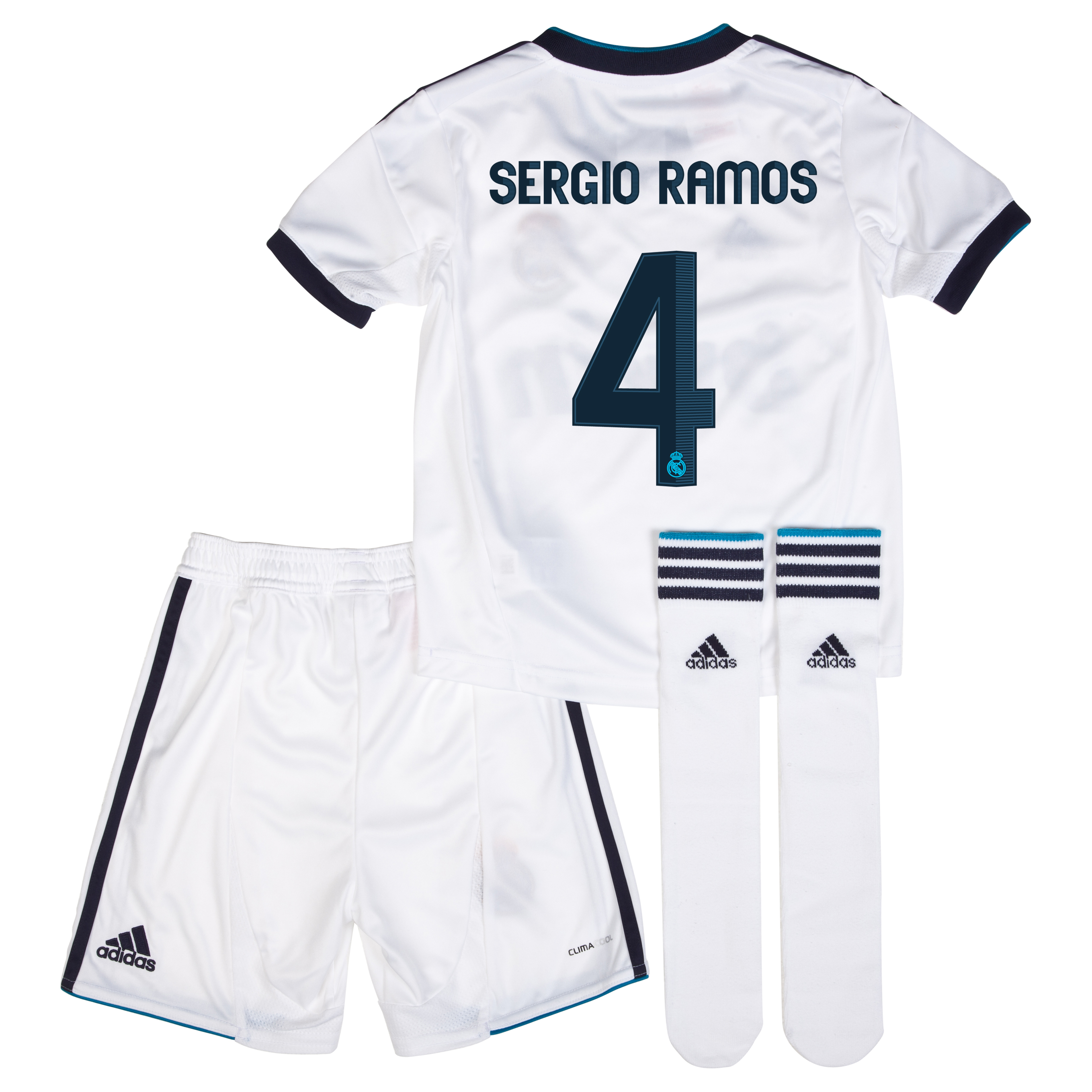 Mini kit local Real Madrid 2012/13 con impresión 4 Sergio Ramos
