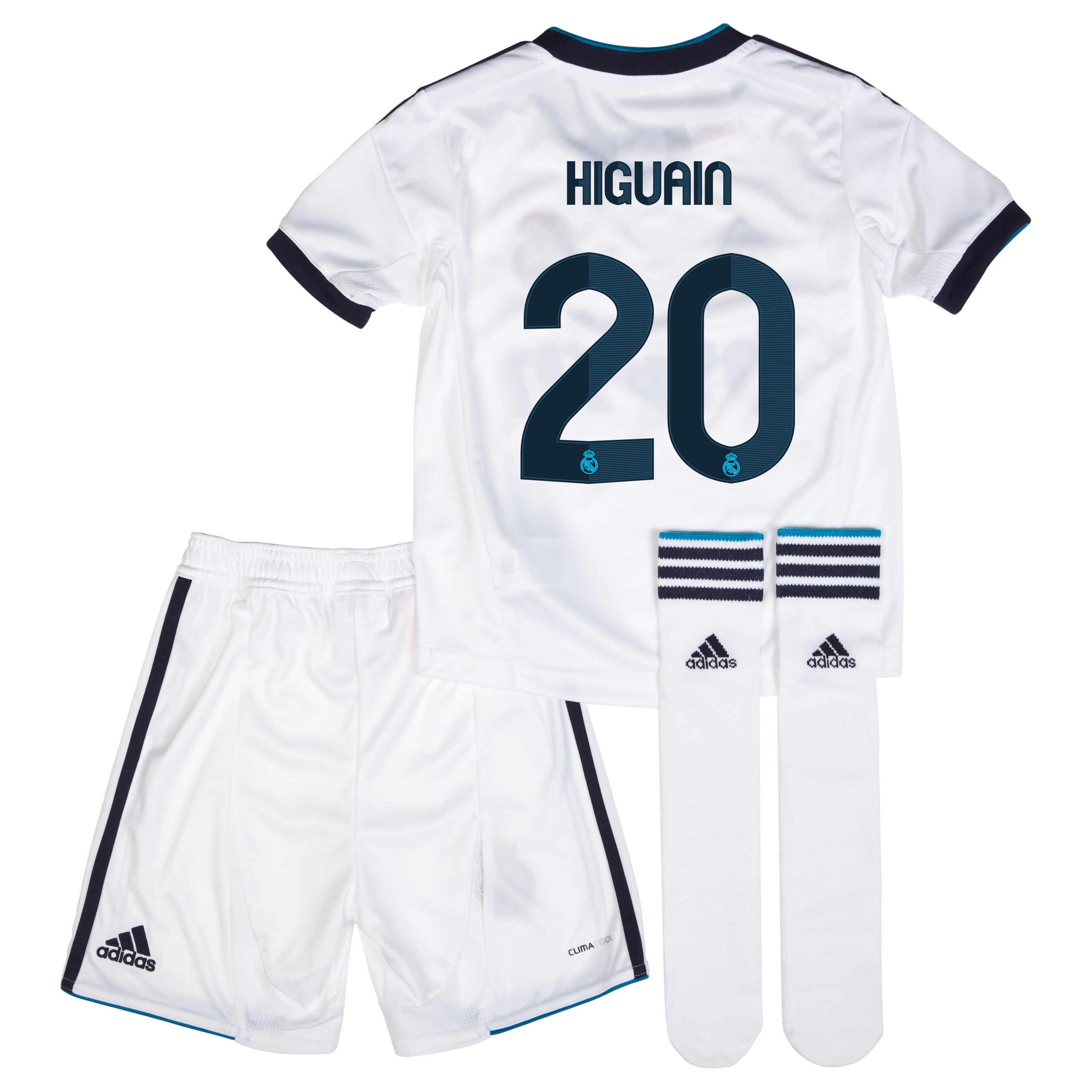 Mini kit local Real Madrid 2012/13 con impresión 20 Higuaín