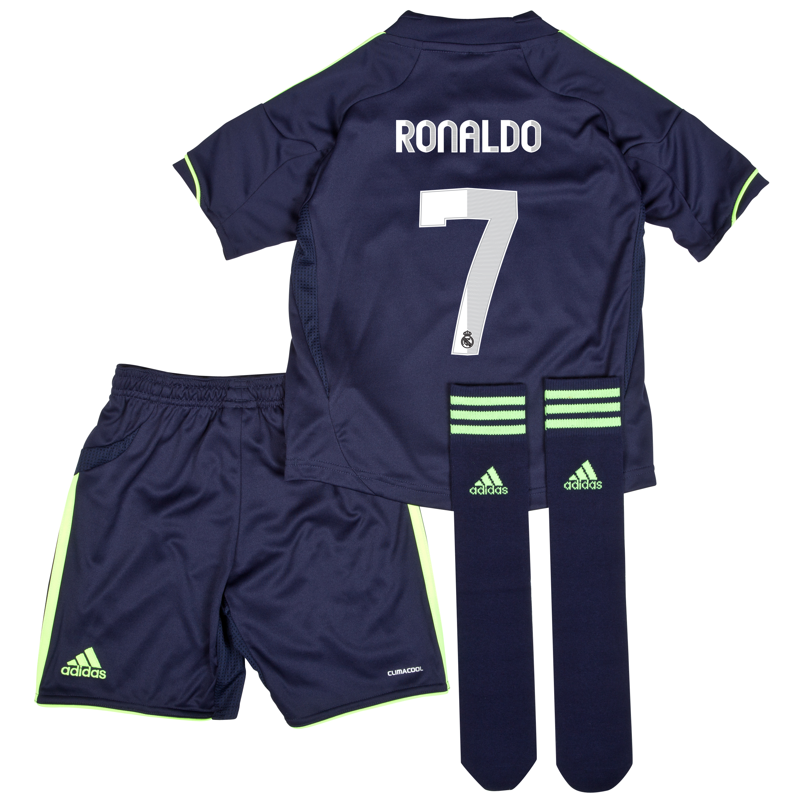 Mini kit visitante Real Madrid 2012/13 con impresión 7 Ronaldo
