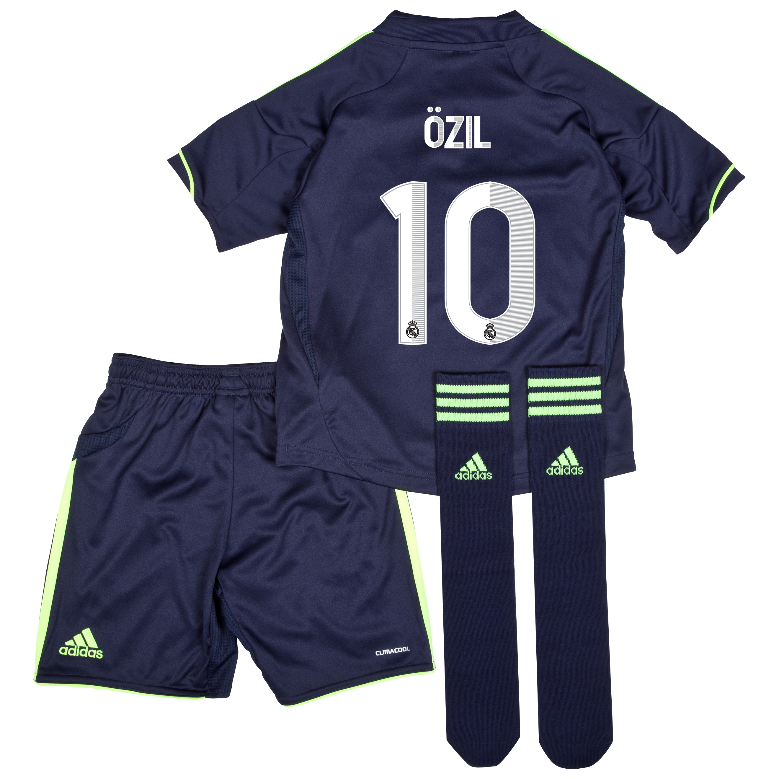 Real Madrid Away Mini Kit 2012/13 with &Ouml;zil 10 printing