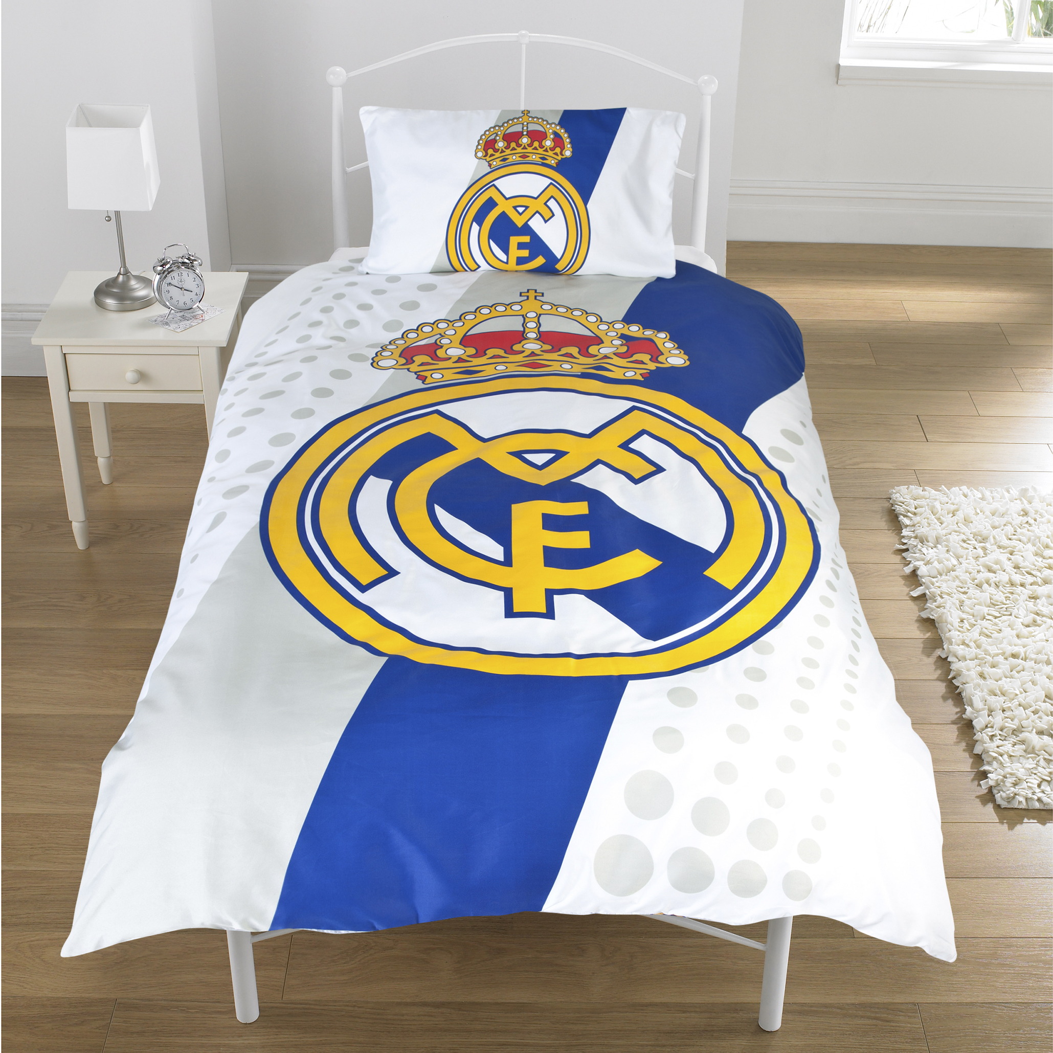 Real Madrid Stripe Duvet Cover - Single