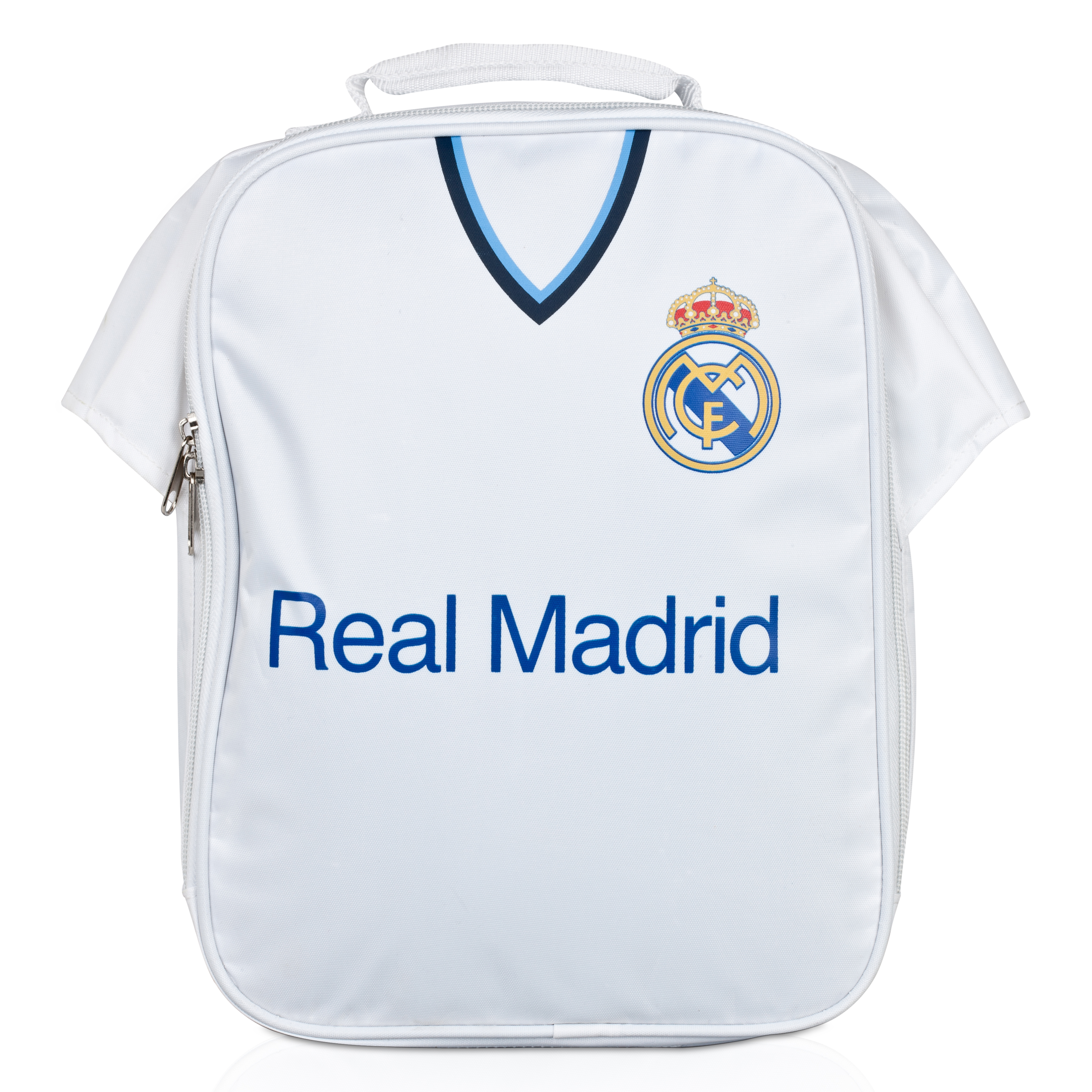 Bolsa fiambrera con forma de camiseta Real Madrid