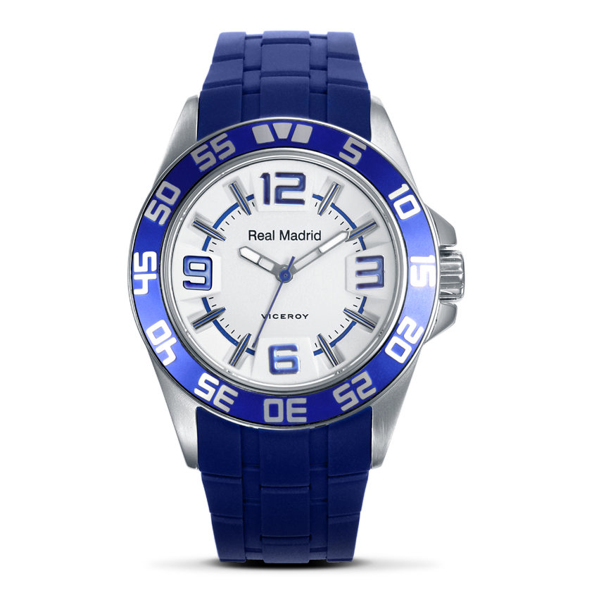 Real Madrid Blue Rubber Strap Watch with White Face - Junior