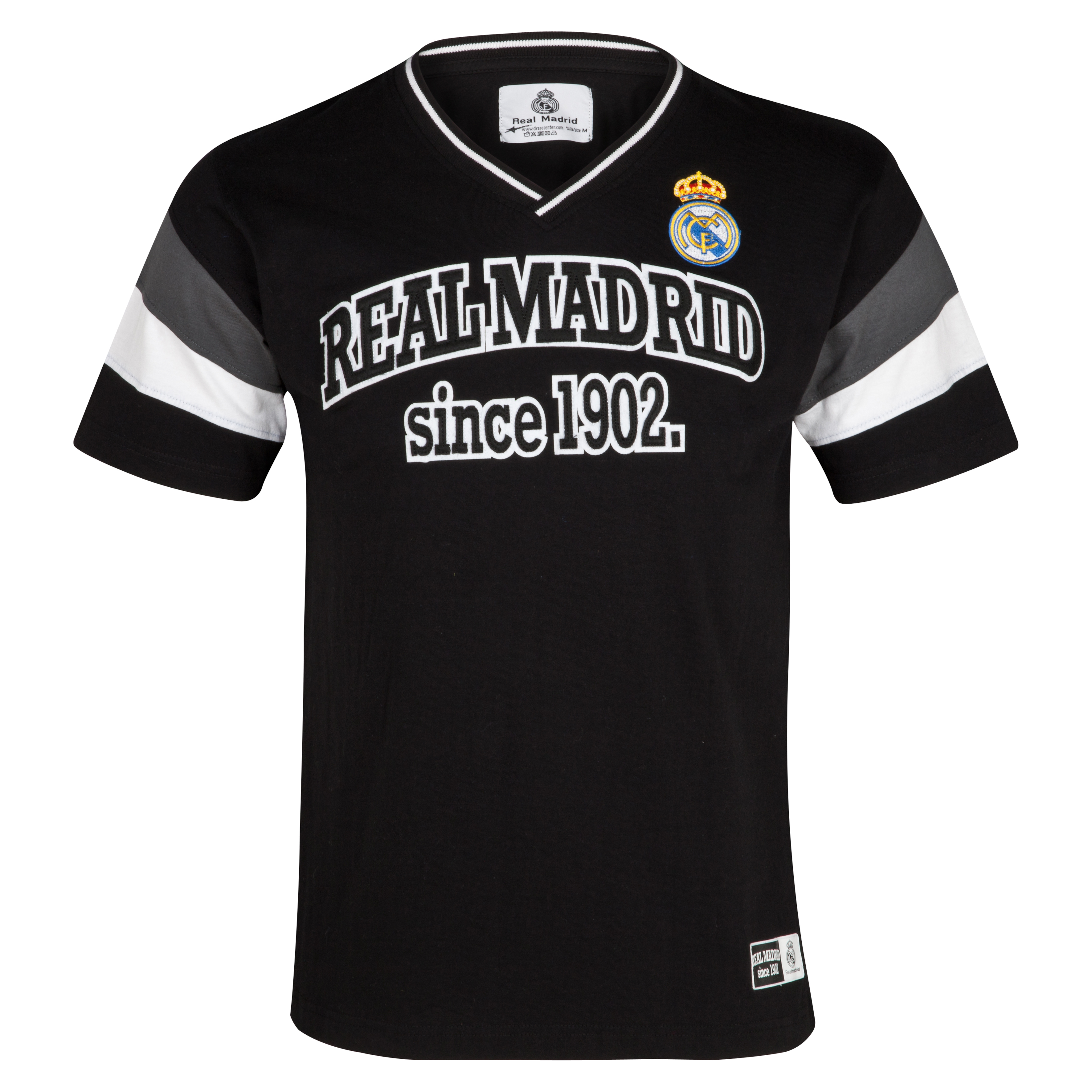 Camiseta Desde 1902 Real Madrid - Negro