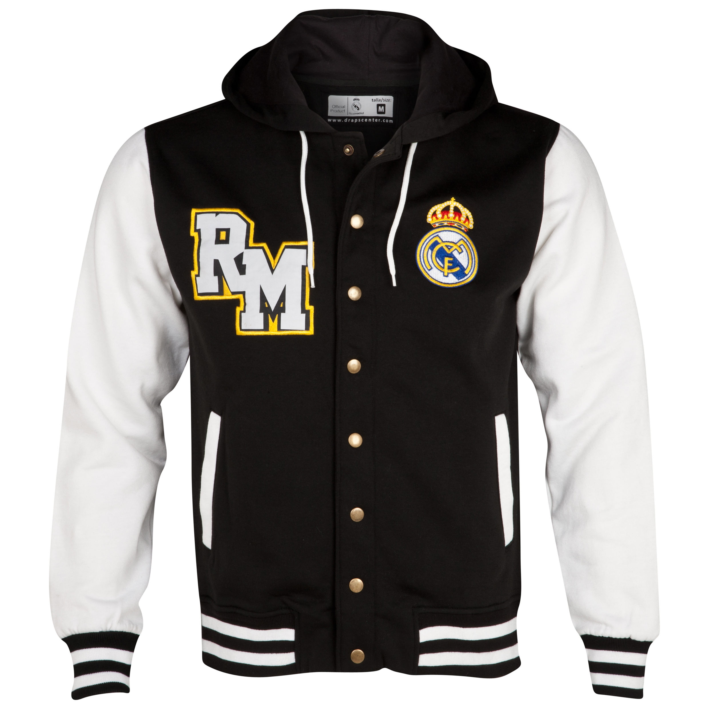 Real Madrid Baseball Jacket - Black/White