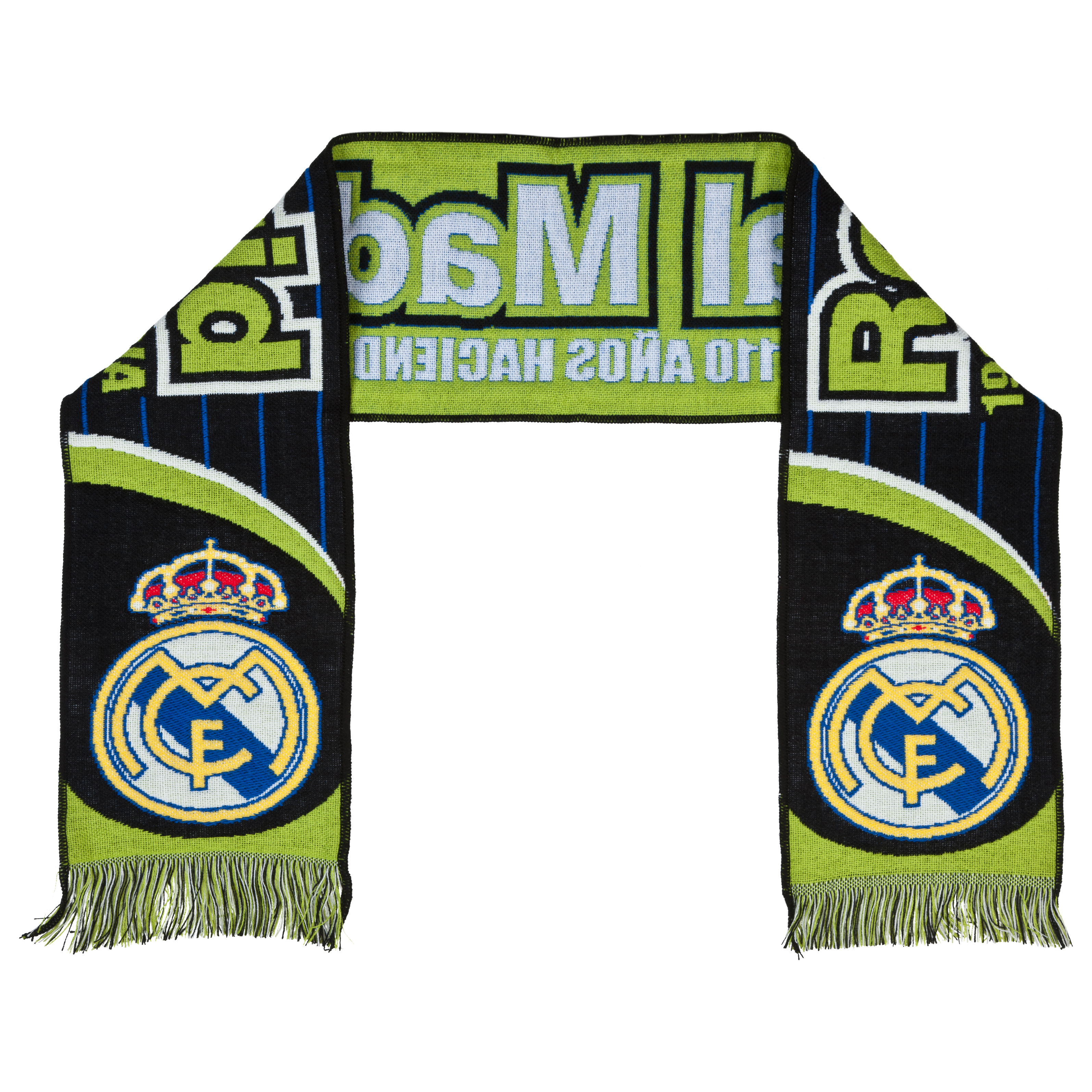 Real Madrid Fan Scarf - Black/Green