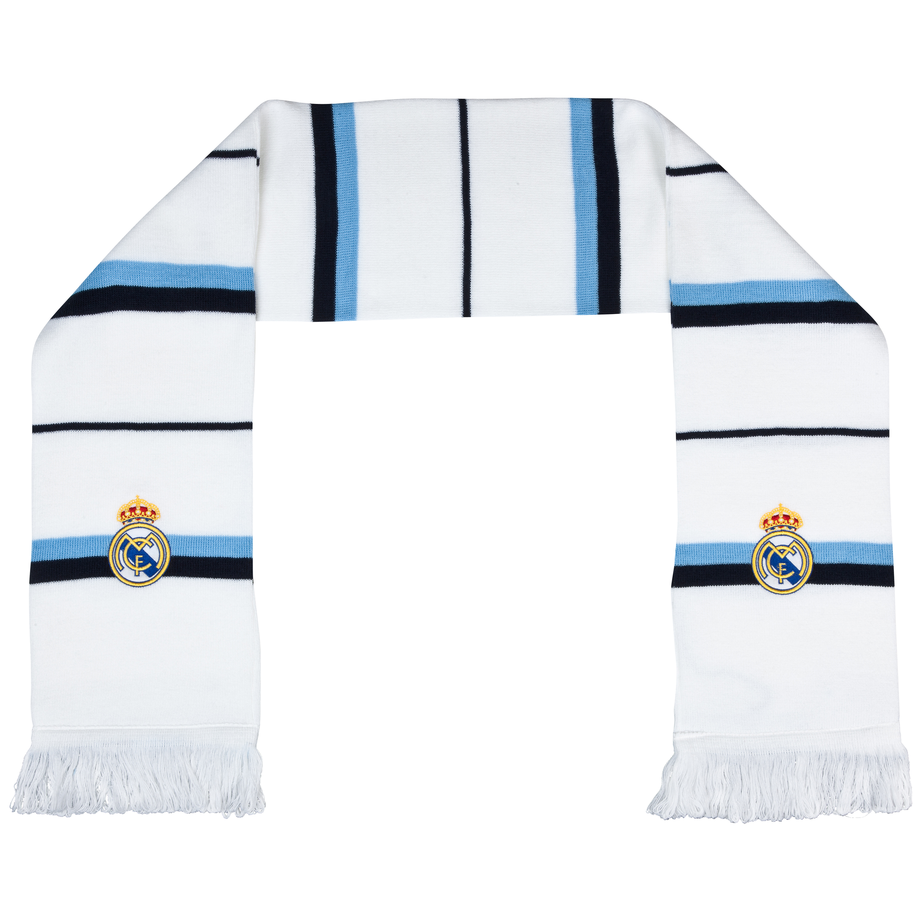 Real Madrid Bar Scarf - White