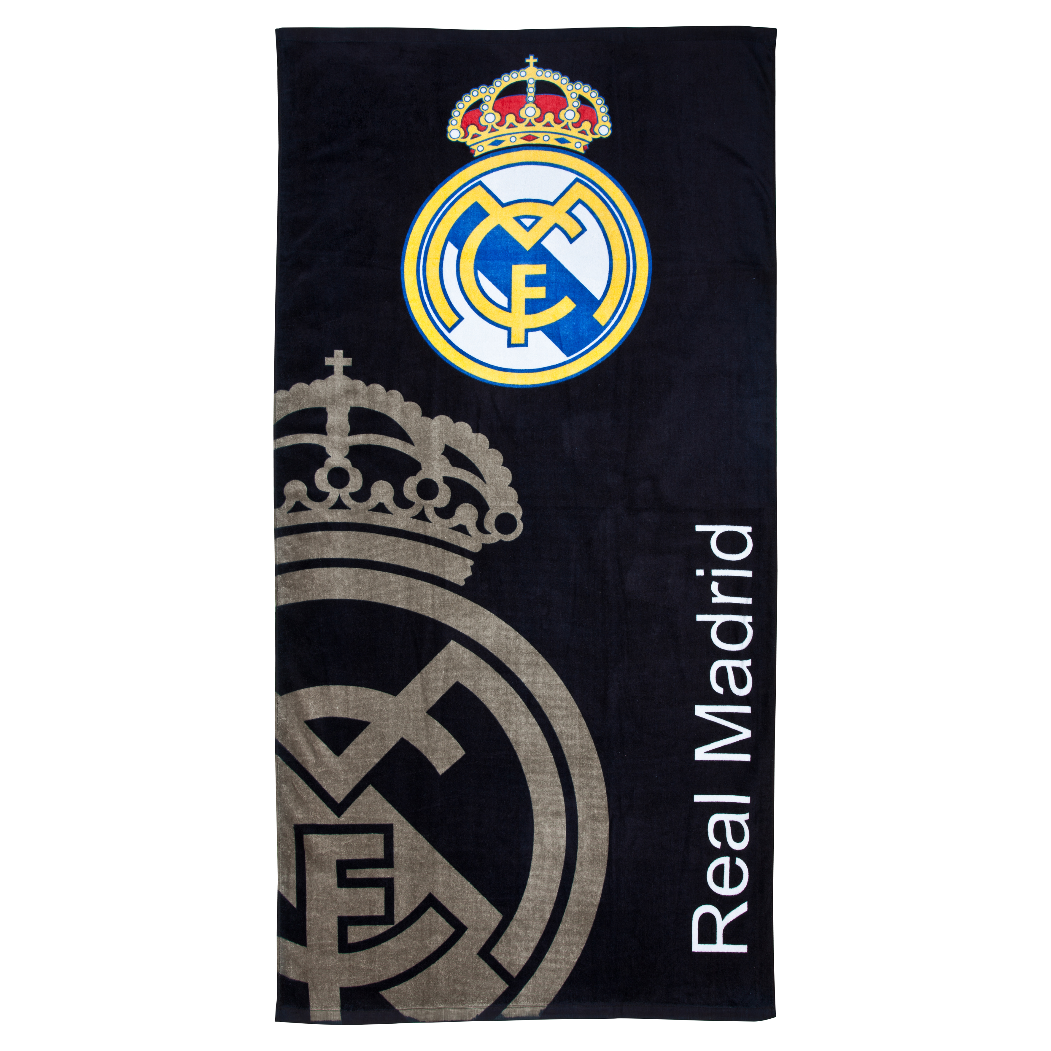 Real Madrid Crest Towel - Black - 75cm x 150cm