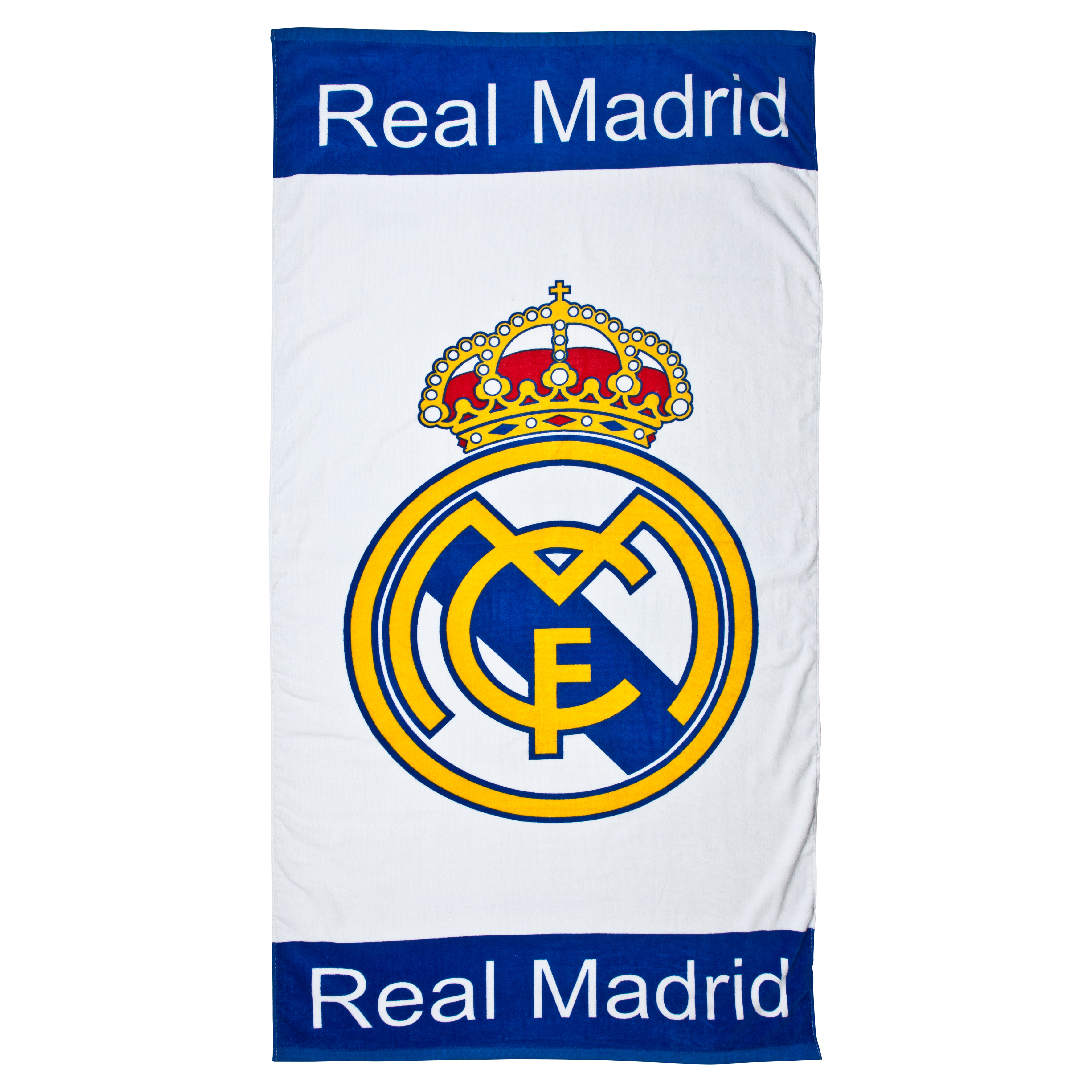 Toalla escudo Real Madrid - Blanco - 75 cm x 150 cm