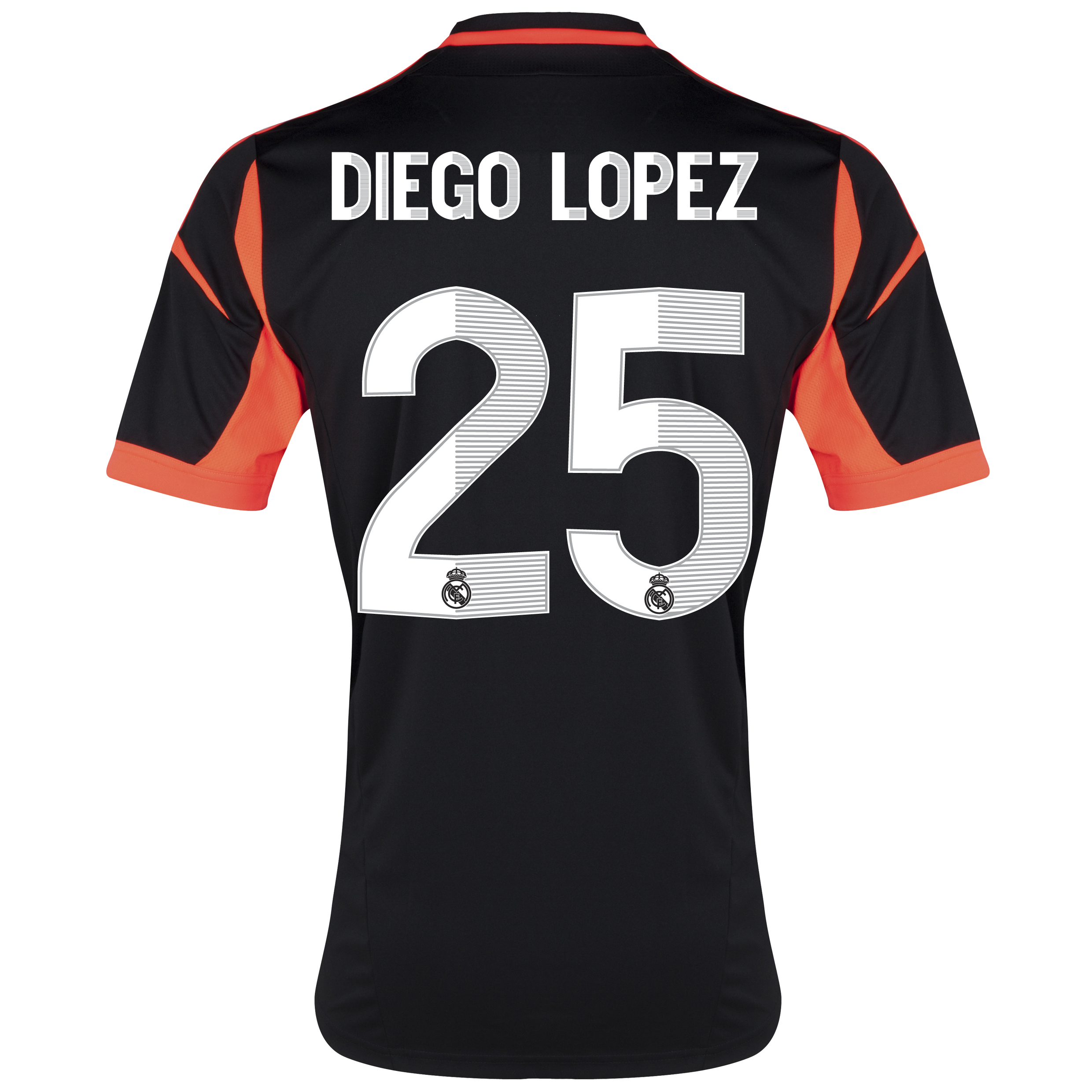 Real Madrid Away Goalkeeper Shirt 2012/13 with Diego Lopez 25 printing
